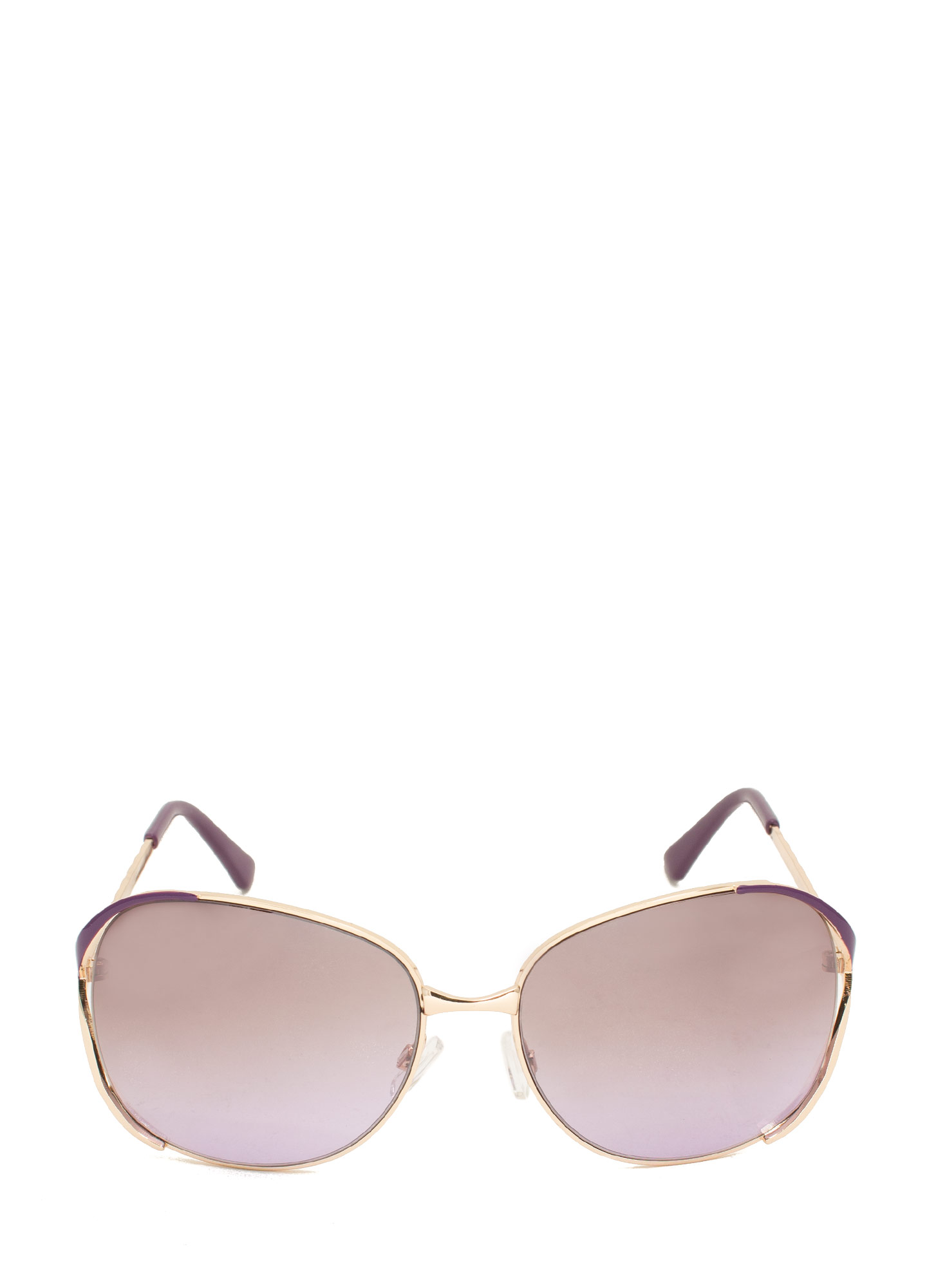 Oversized 'N Striped Sunglasses PURPLE