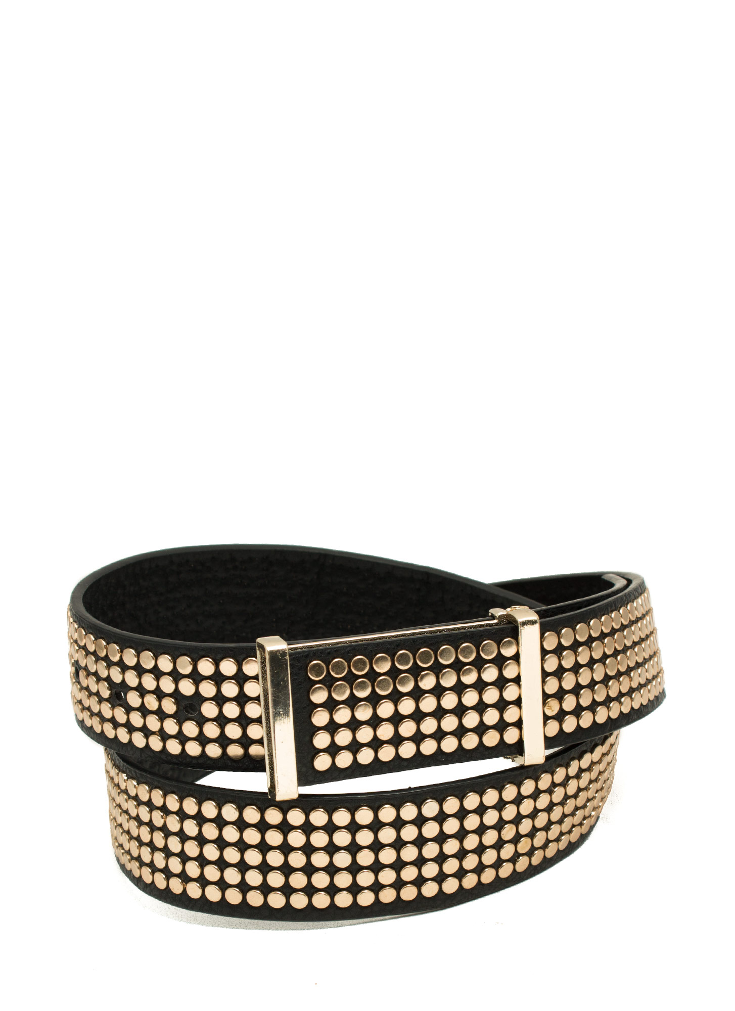 Disc Studded Belt BLACKGOLD
