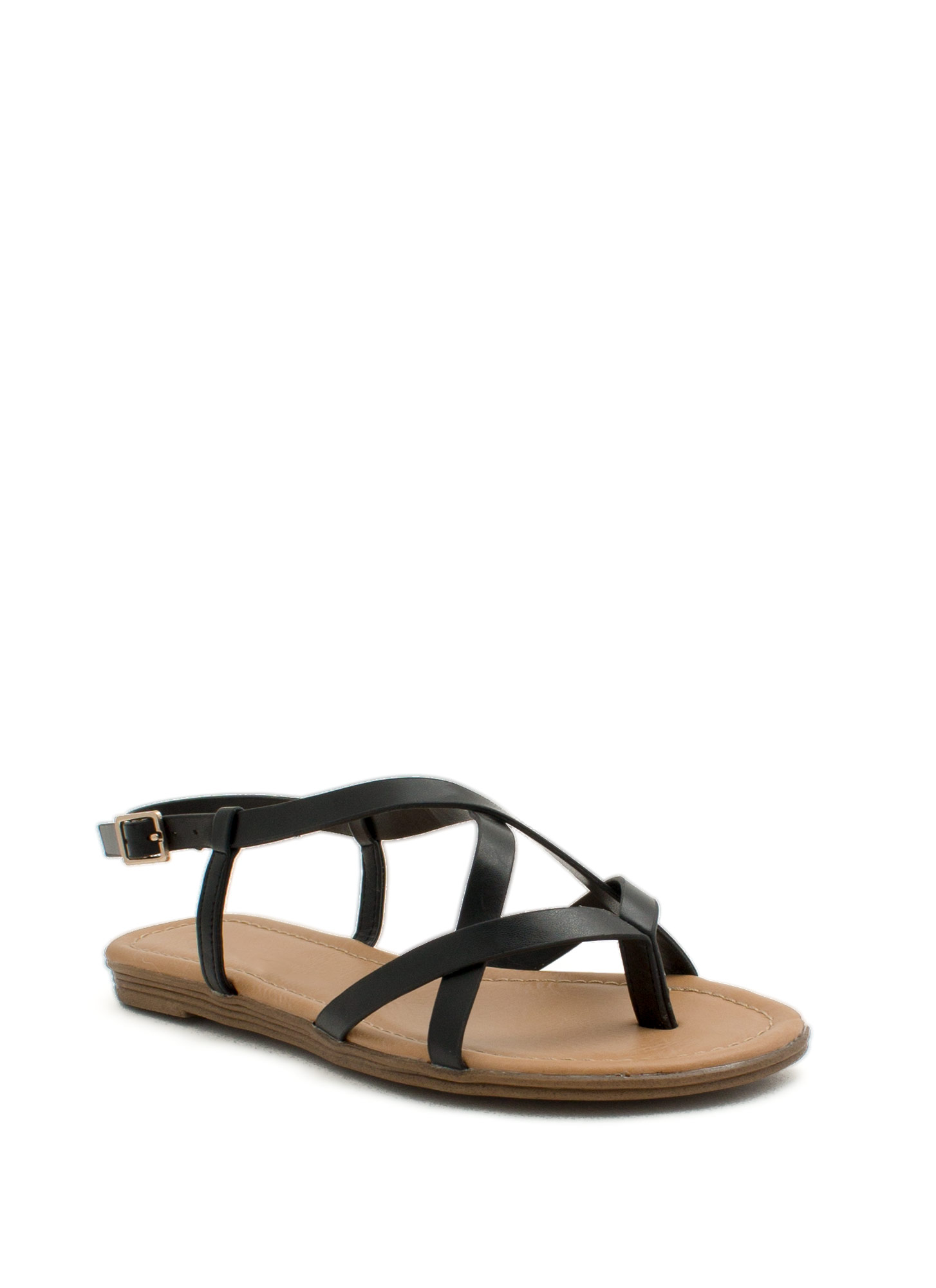 Summertime Radness Strappy Sandals BLACK