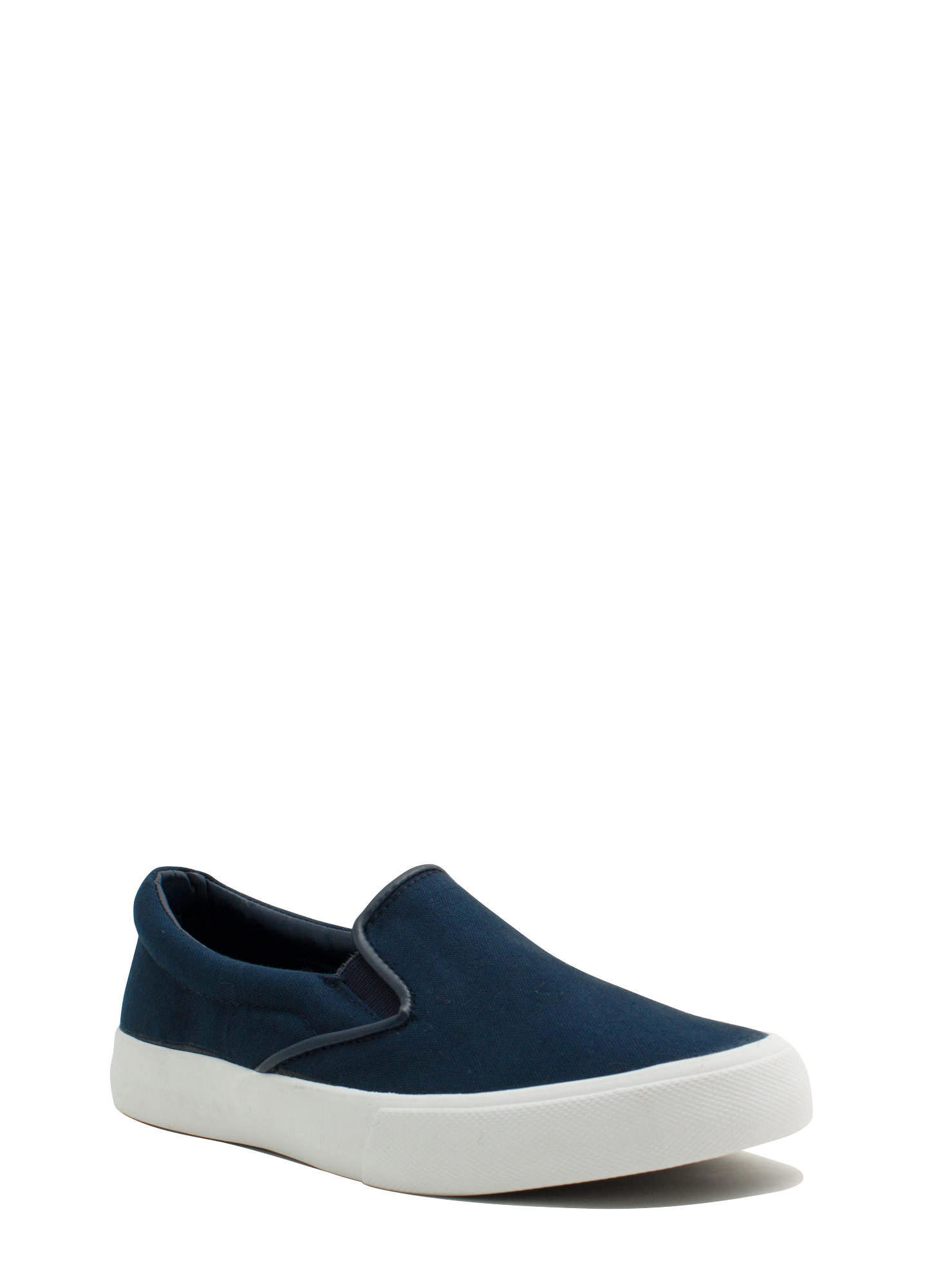 Solid Foundation Slip-On Sneakers NAVY