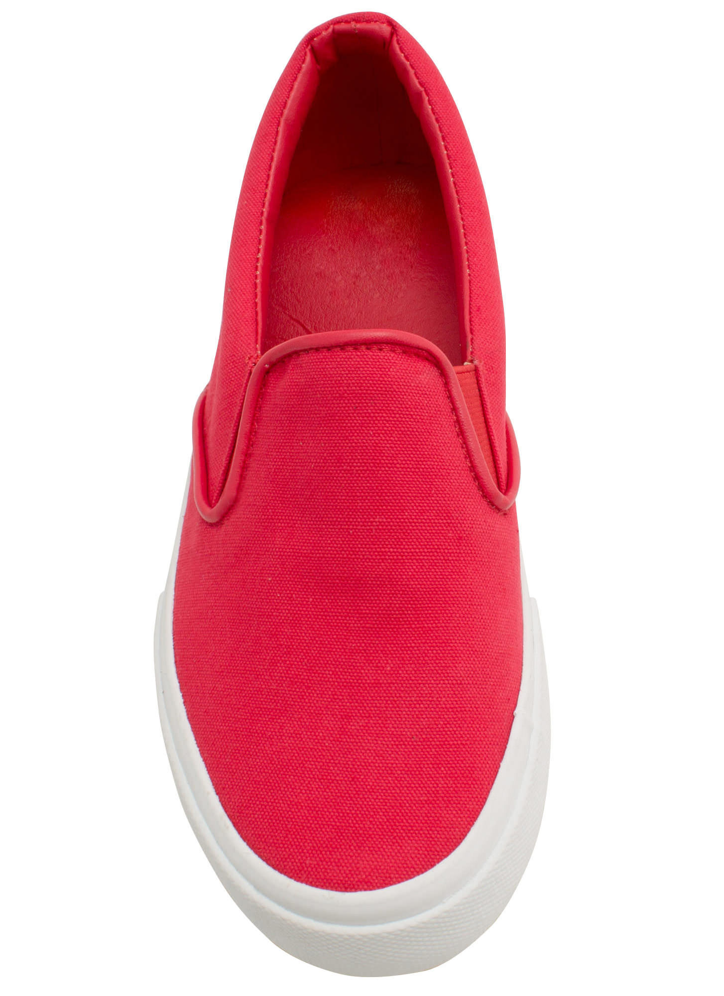 Solid Foundation Slip-On Sneakers RED
