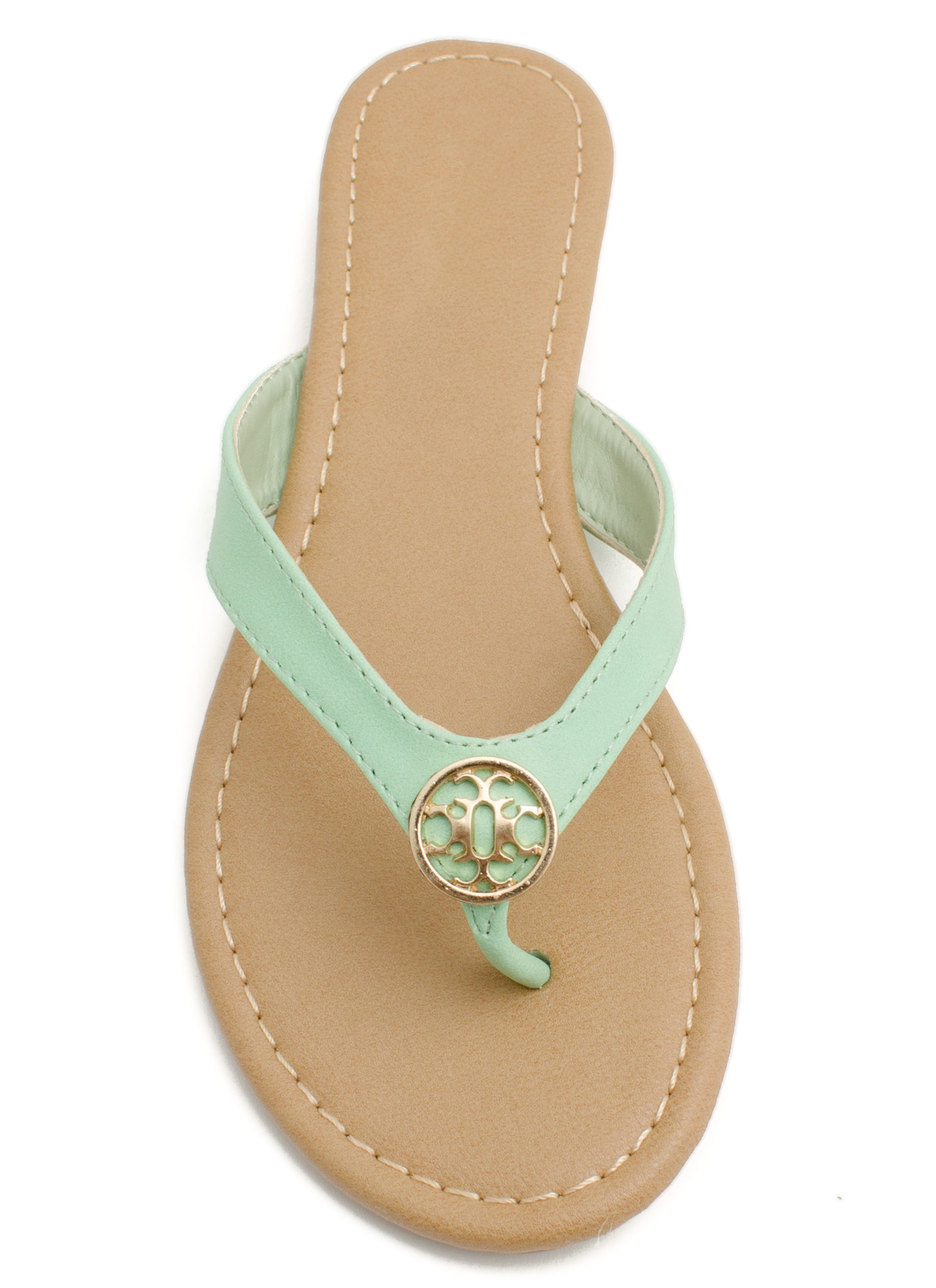 Mini Medallion Thong Sandals MINT