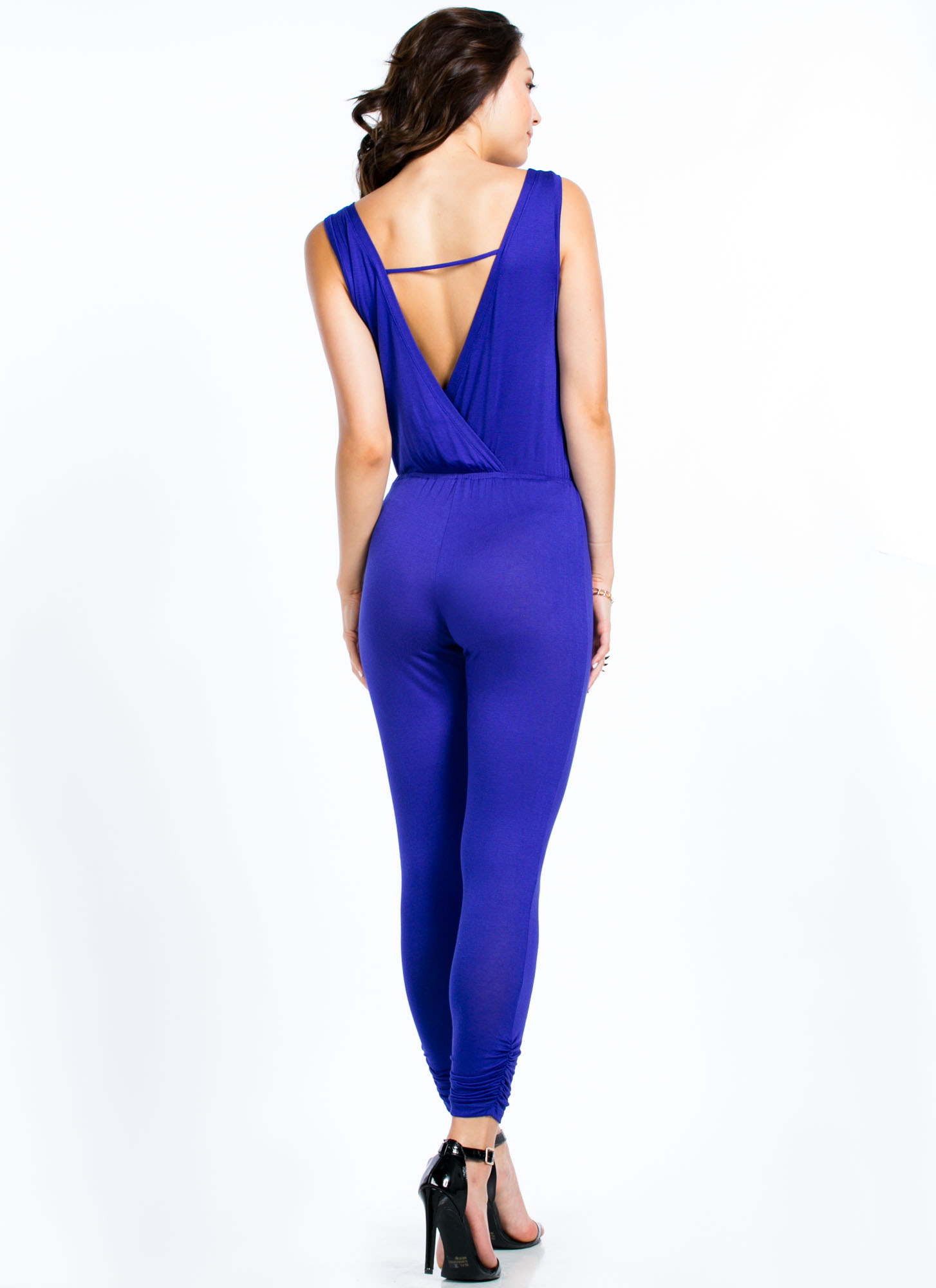 Got Ur Back Surplice Jumpsuit ROYAL