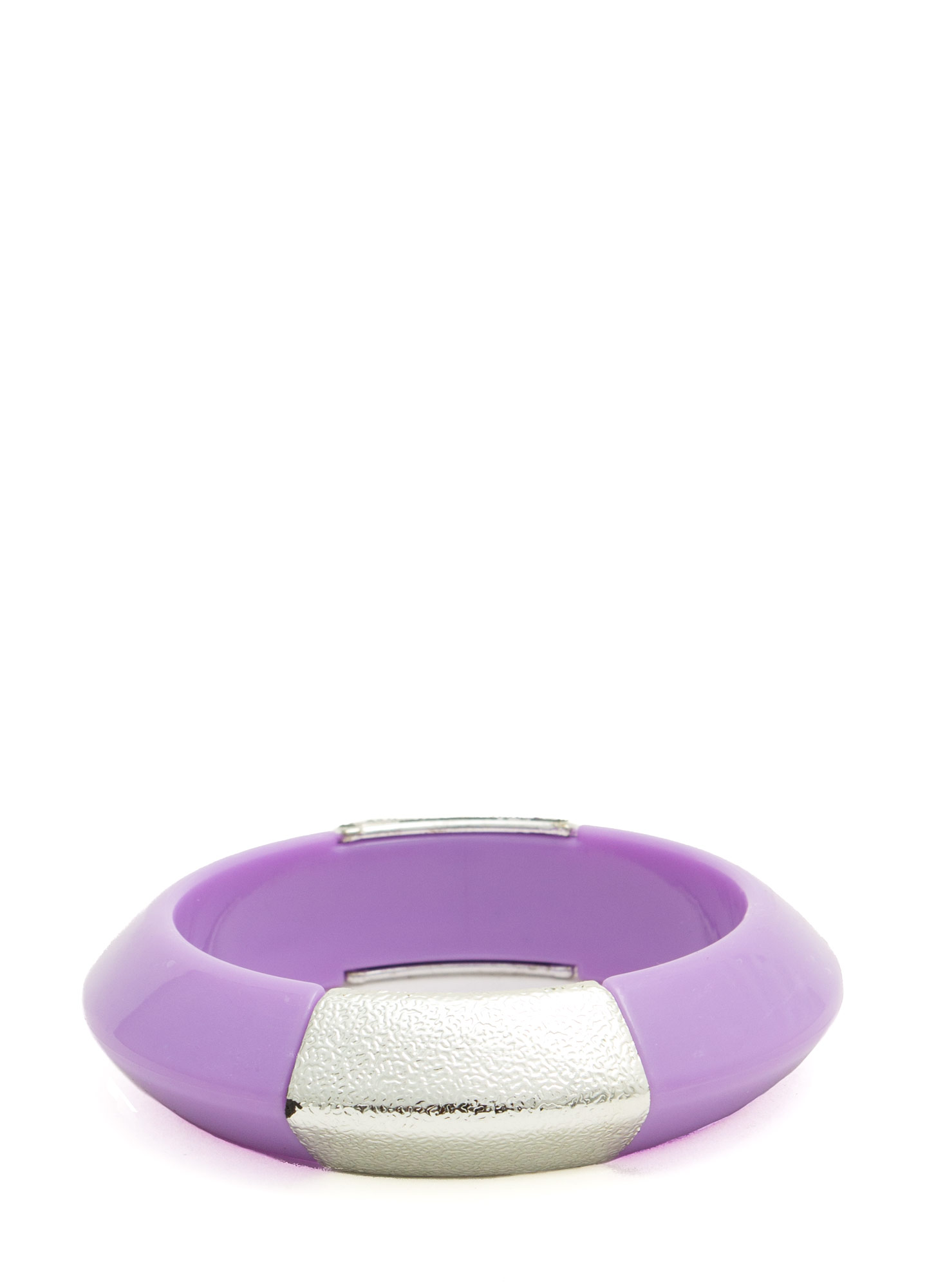 Metallic Accent Chunky Resin Bangle PURPLE