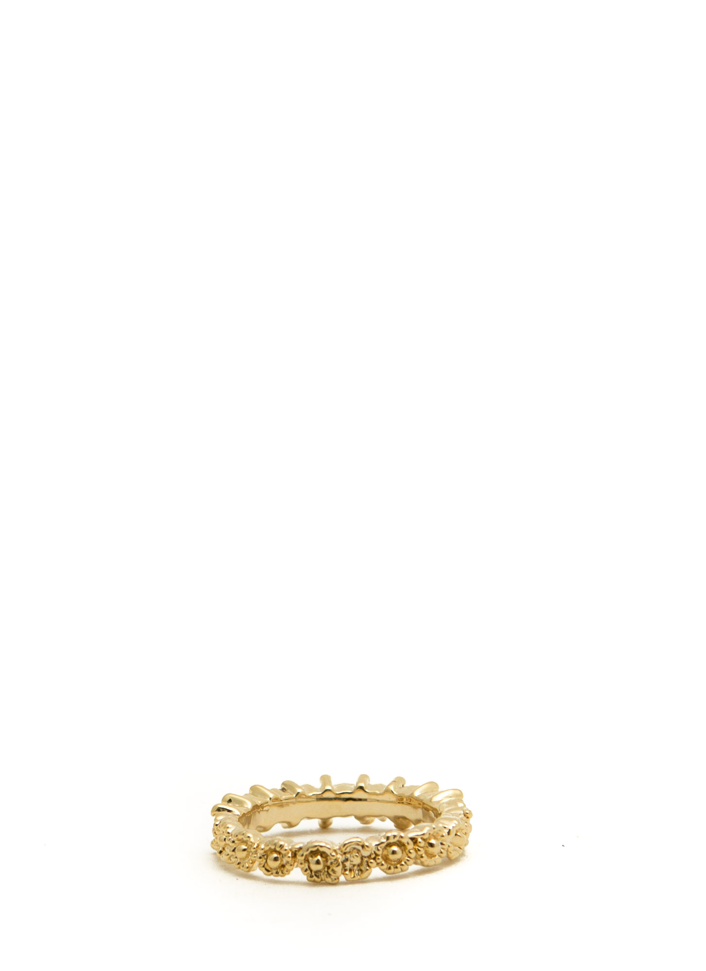 Rhinestone Series Textured Midi Ring GOLD