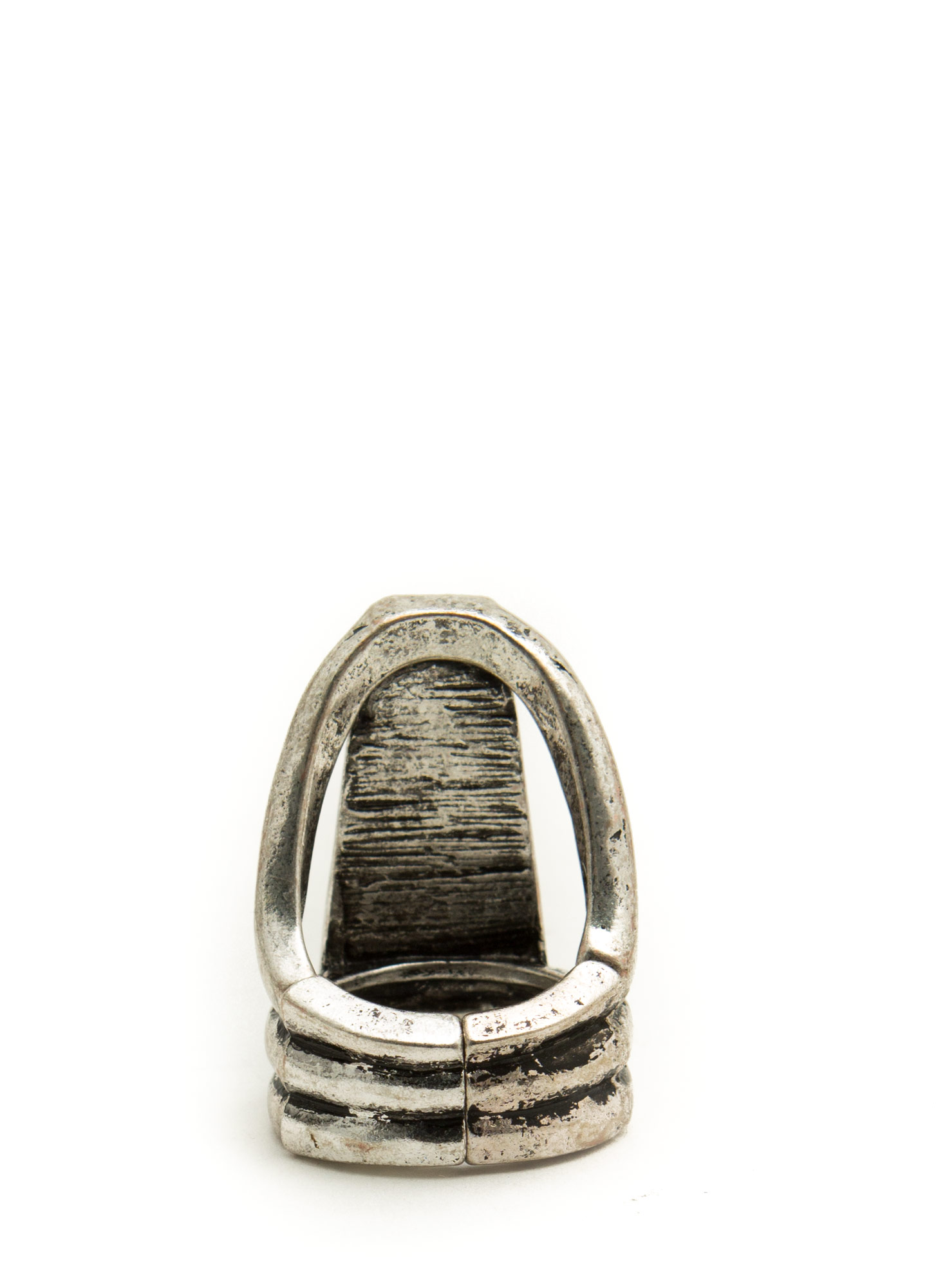 Trapezoid Stone Ring TURQDKSLVR