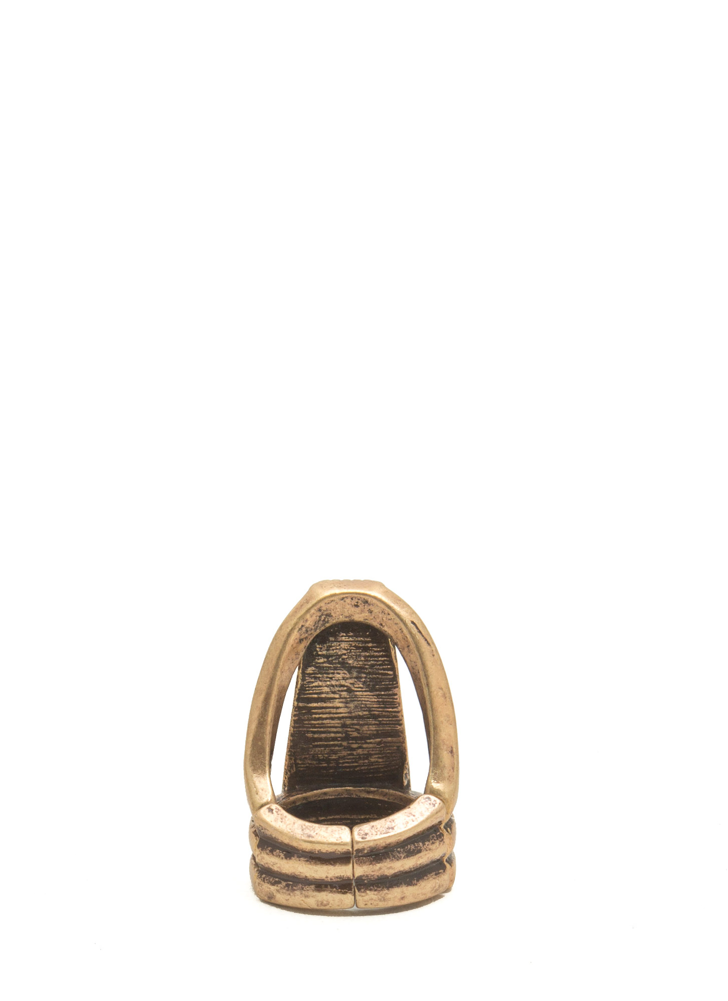 Trapezoid Stone Ring TURQGOLD