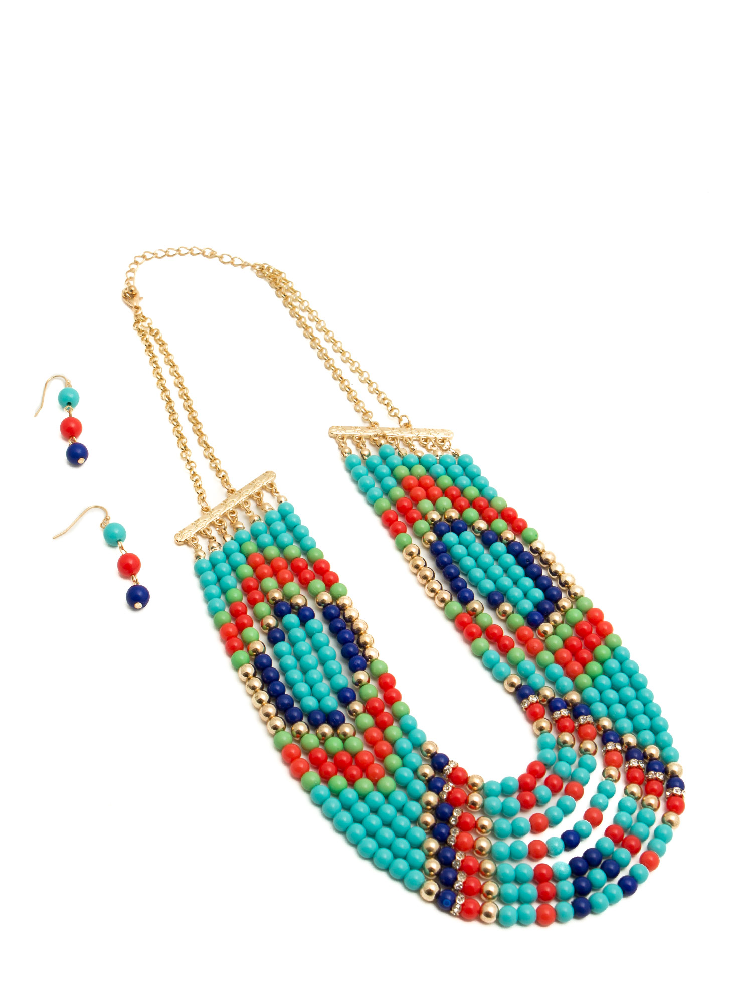 Bead Me To It Necklace Set TURQMULTI