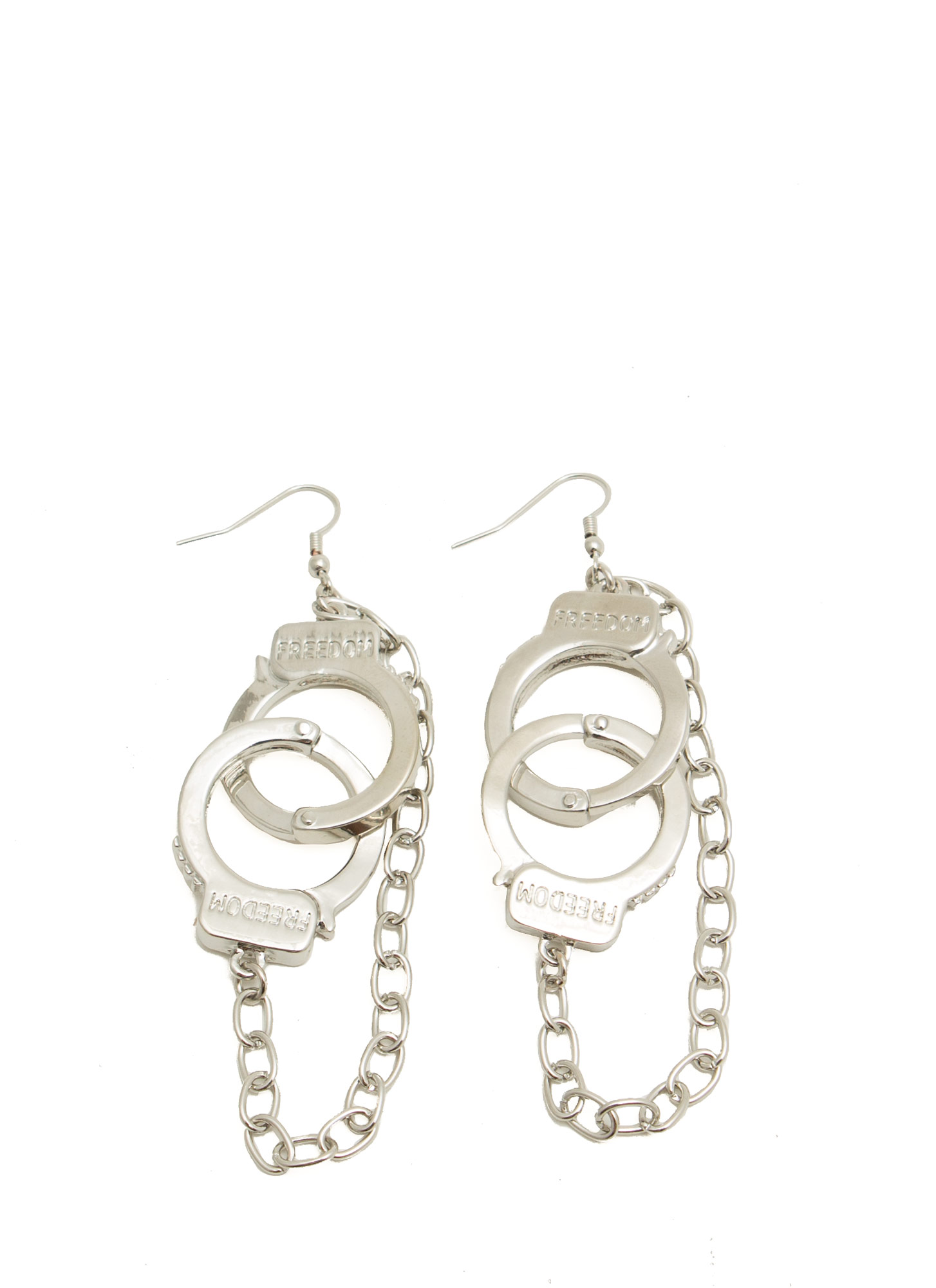 Chained Handcuff Earrings SILVER