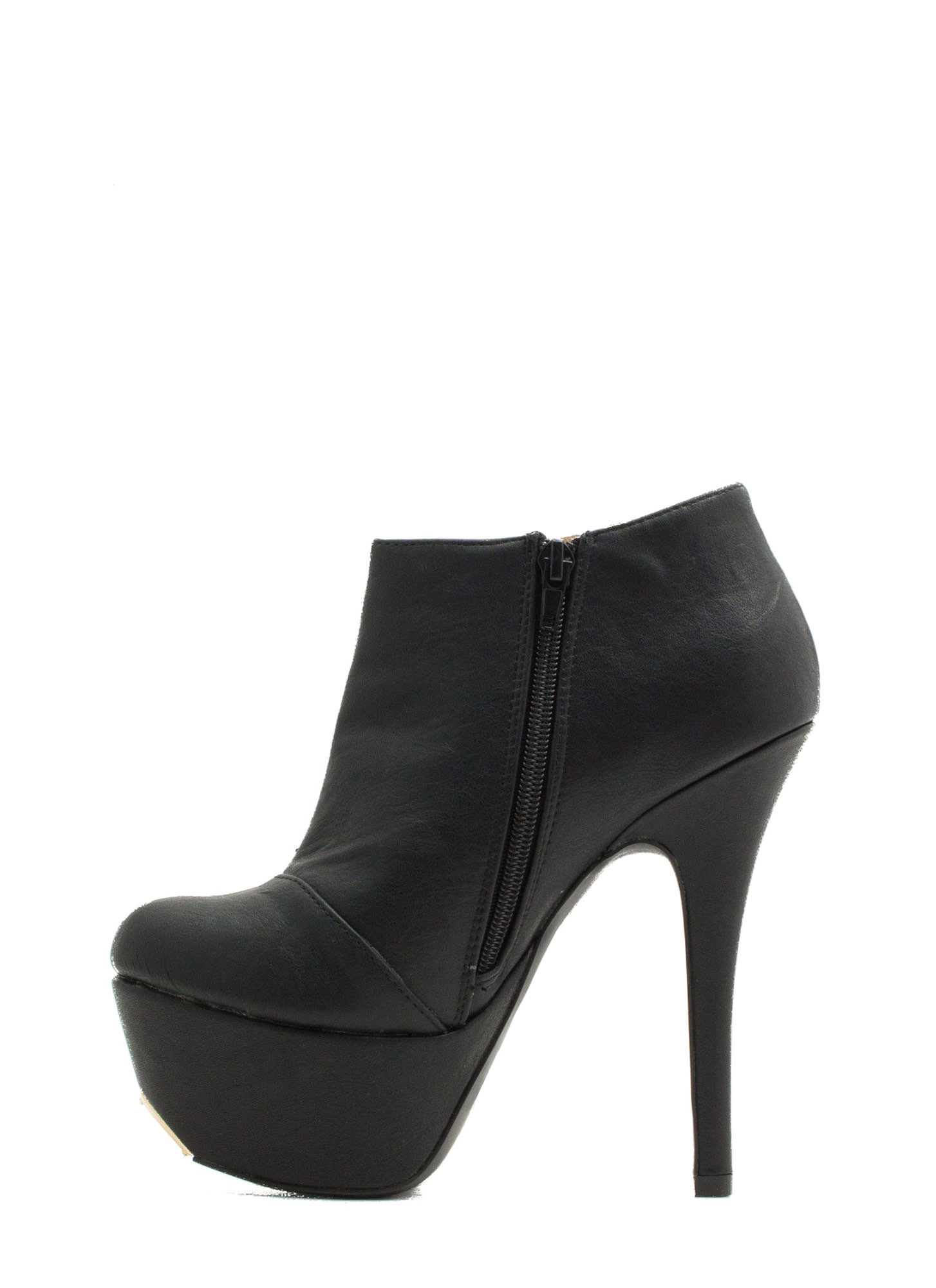 Battle Of Slits Platform Heels BLACK