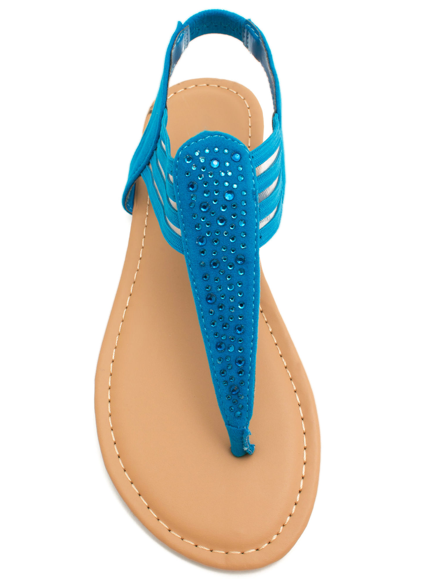 Mesh 'N Shine Thong Sandals BLUE