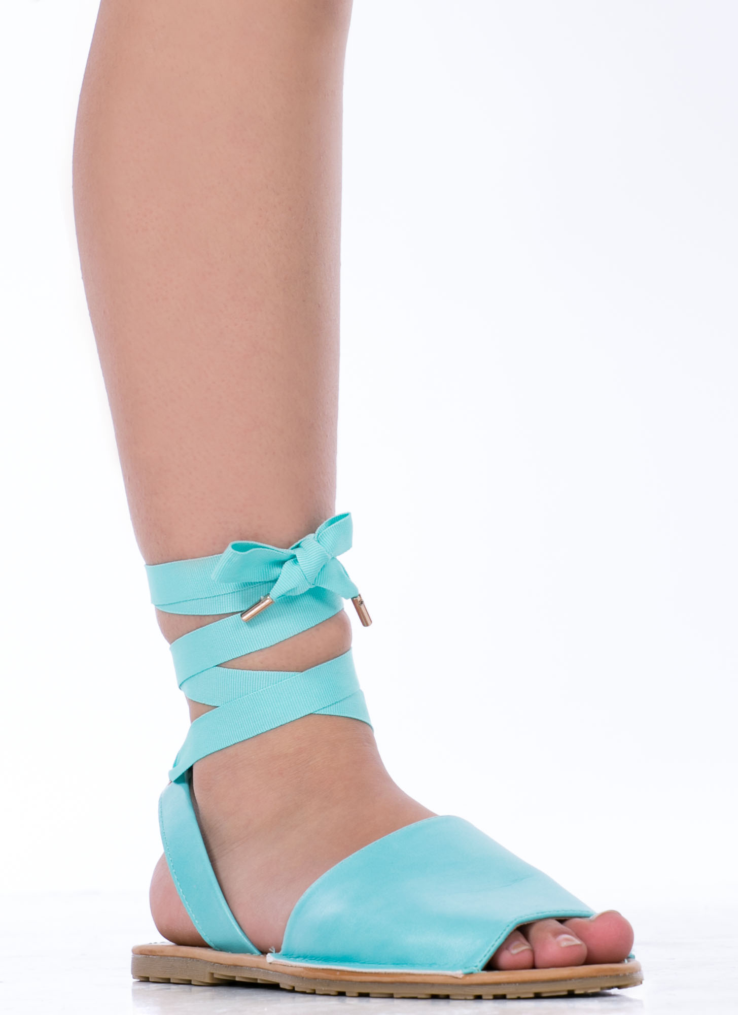 Wanderlust Faux Leather Sandals BLUE