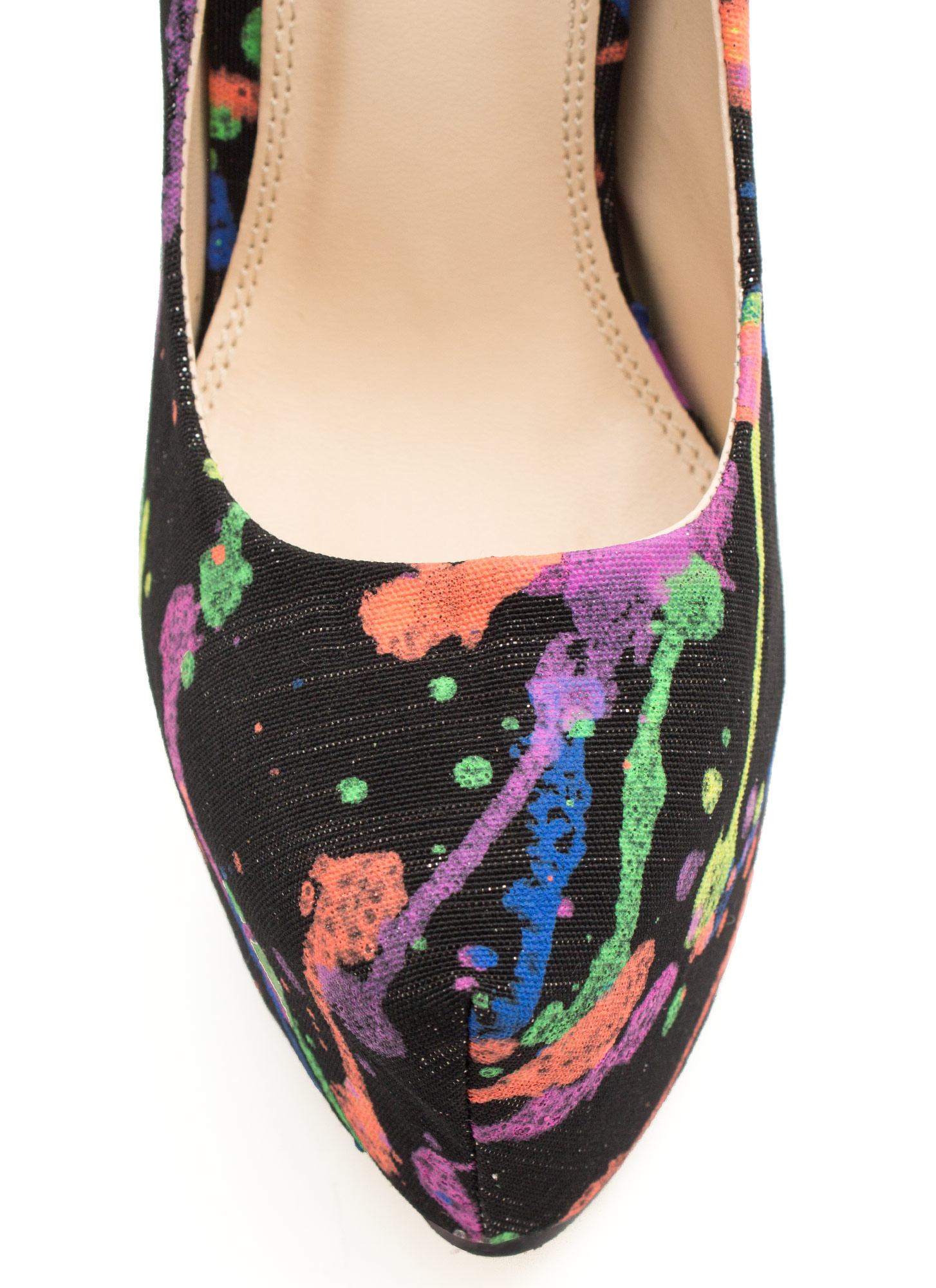 Mad Splatter Painted Print Platforms BLACK
