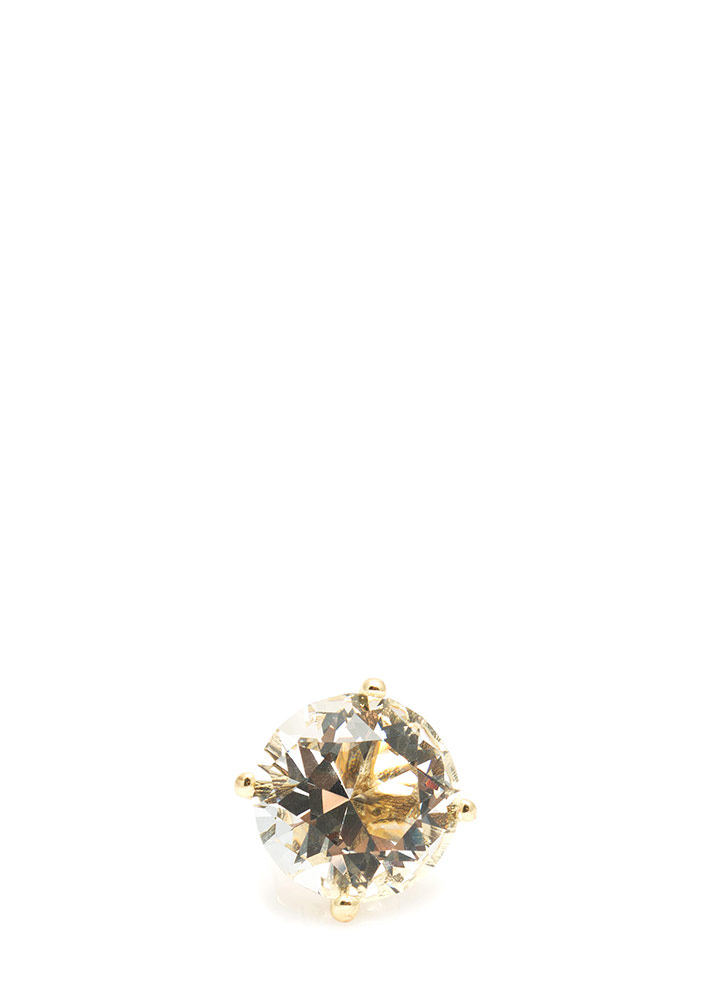Colossal Jewel Ring CLEARGOLD