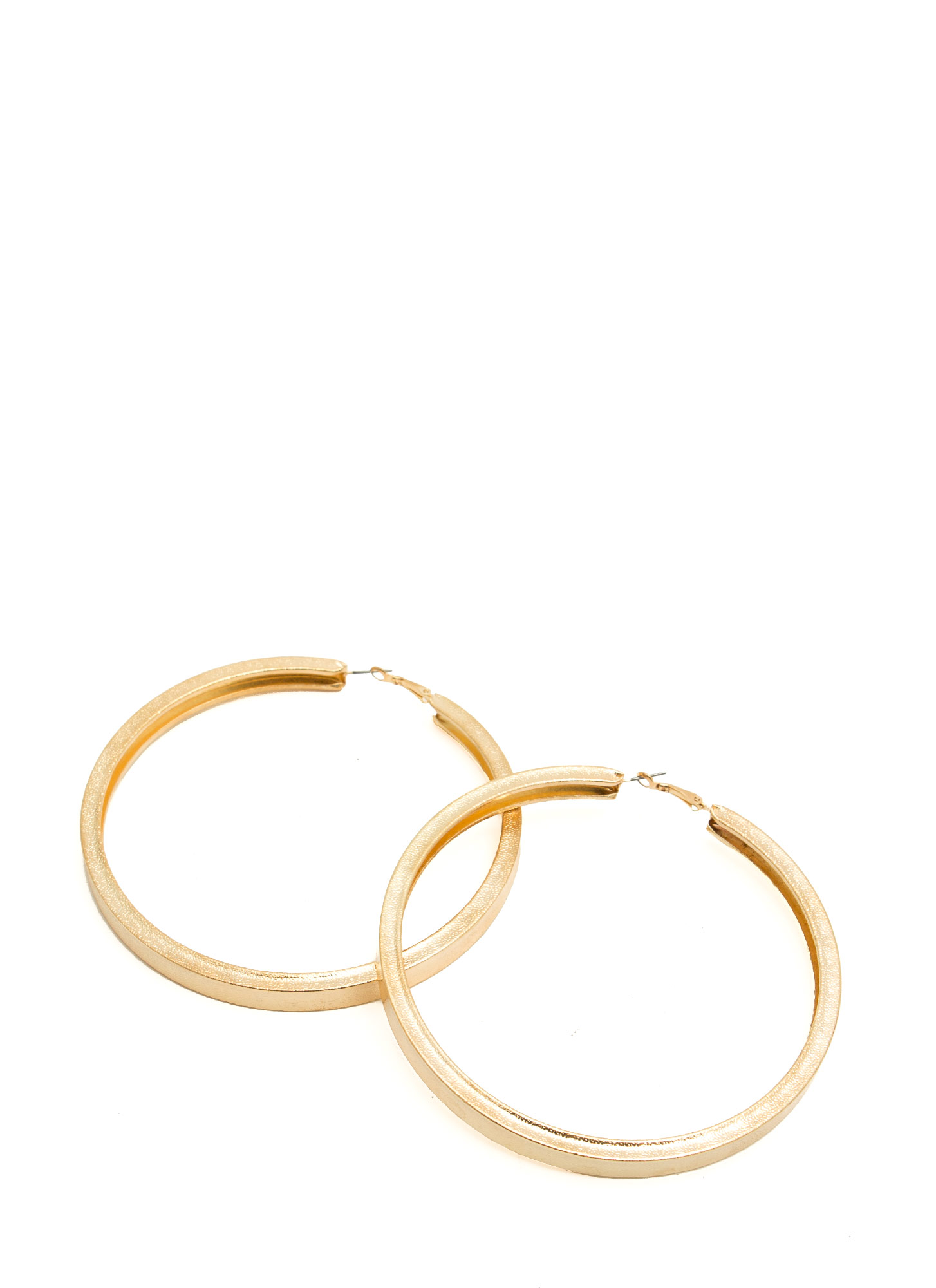 Oversized 'N Textured Hoop Earrings GOLD