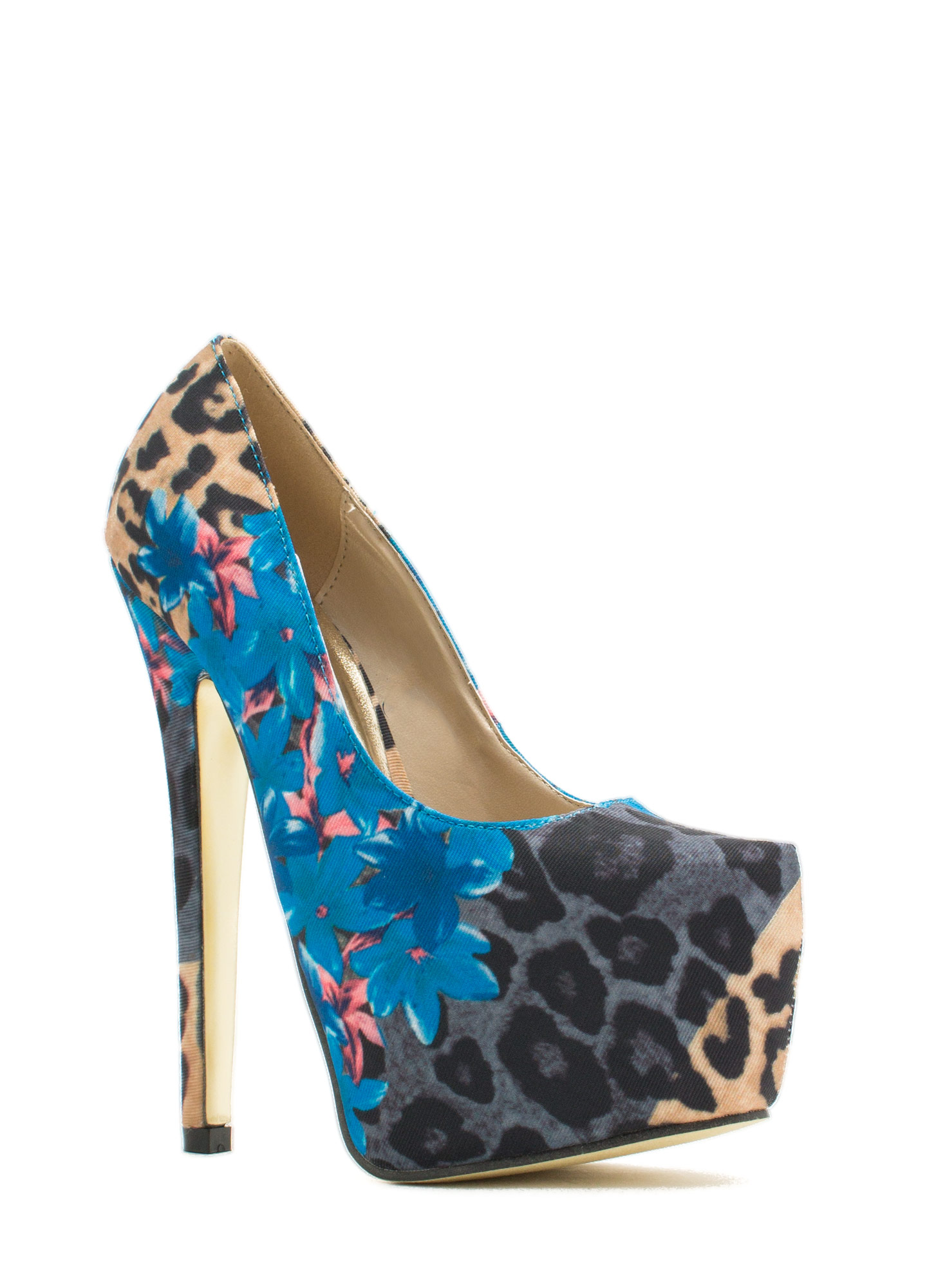 Tropical Wild Animal Platform Pump BLUEMULTI