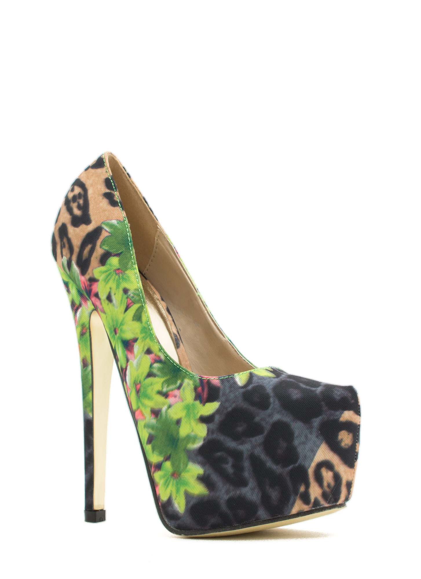 Tropical Wild Animal Platform Pump GREENMULTI