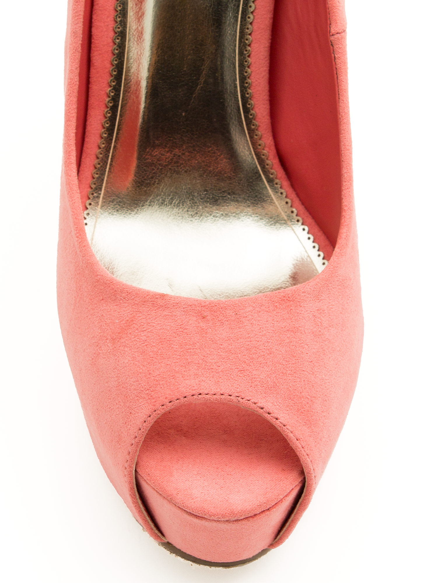 Chain Of Scenery Peep-Toe Platforms BLUSH