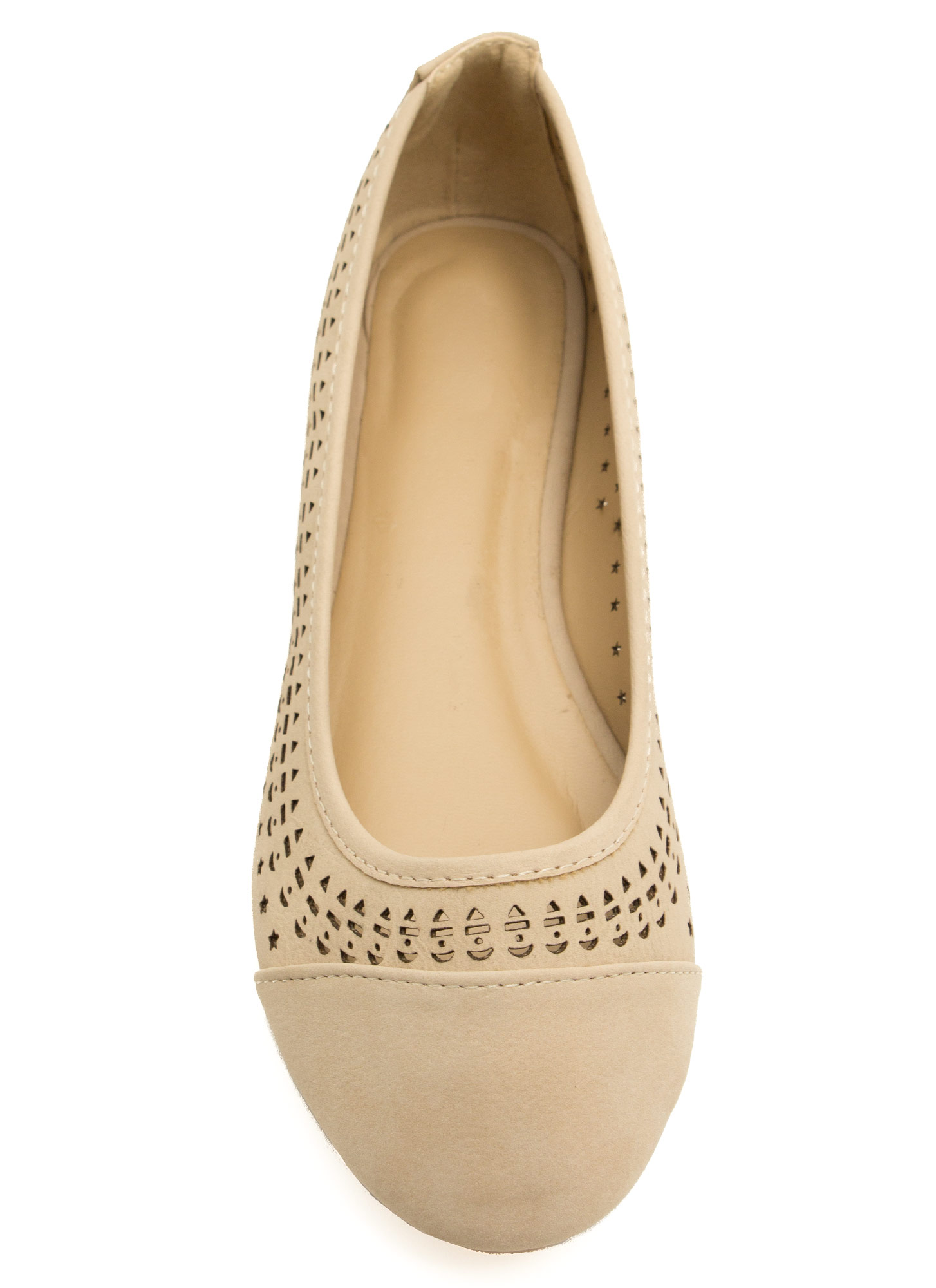 Get Into Shapes Laser Cut Ballet Flats NATURAL