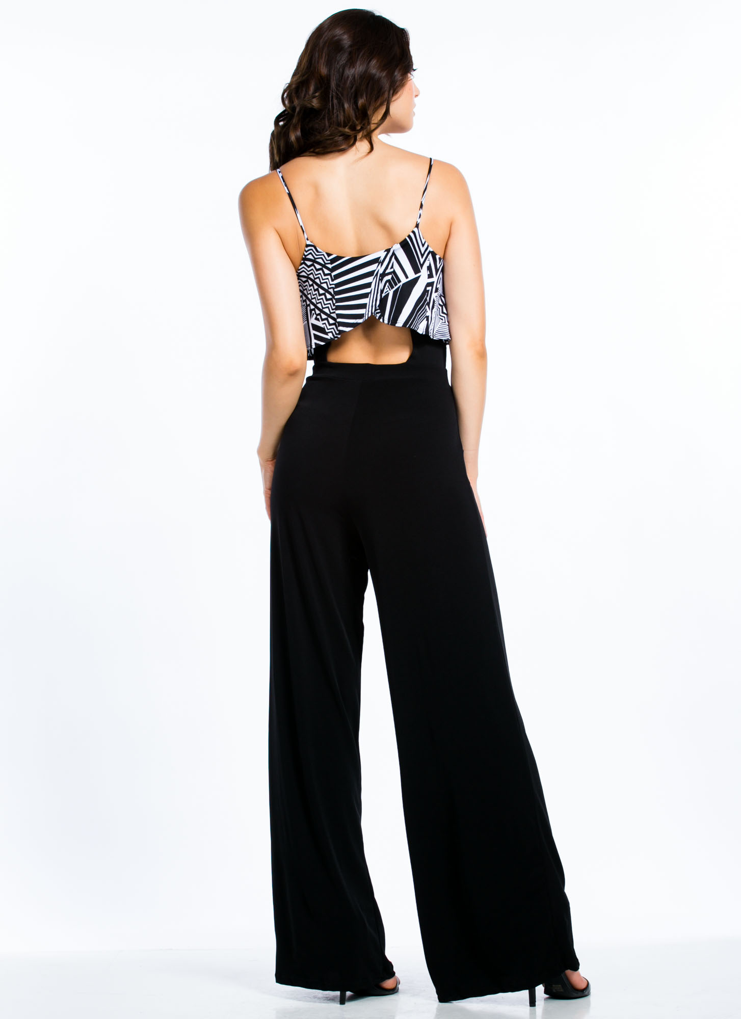 I'm Tiering Up Tribal Palazzo Jumpsuit BLACK