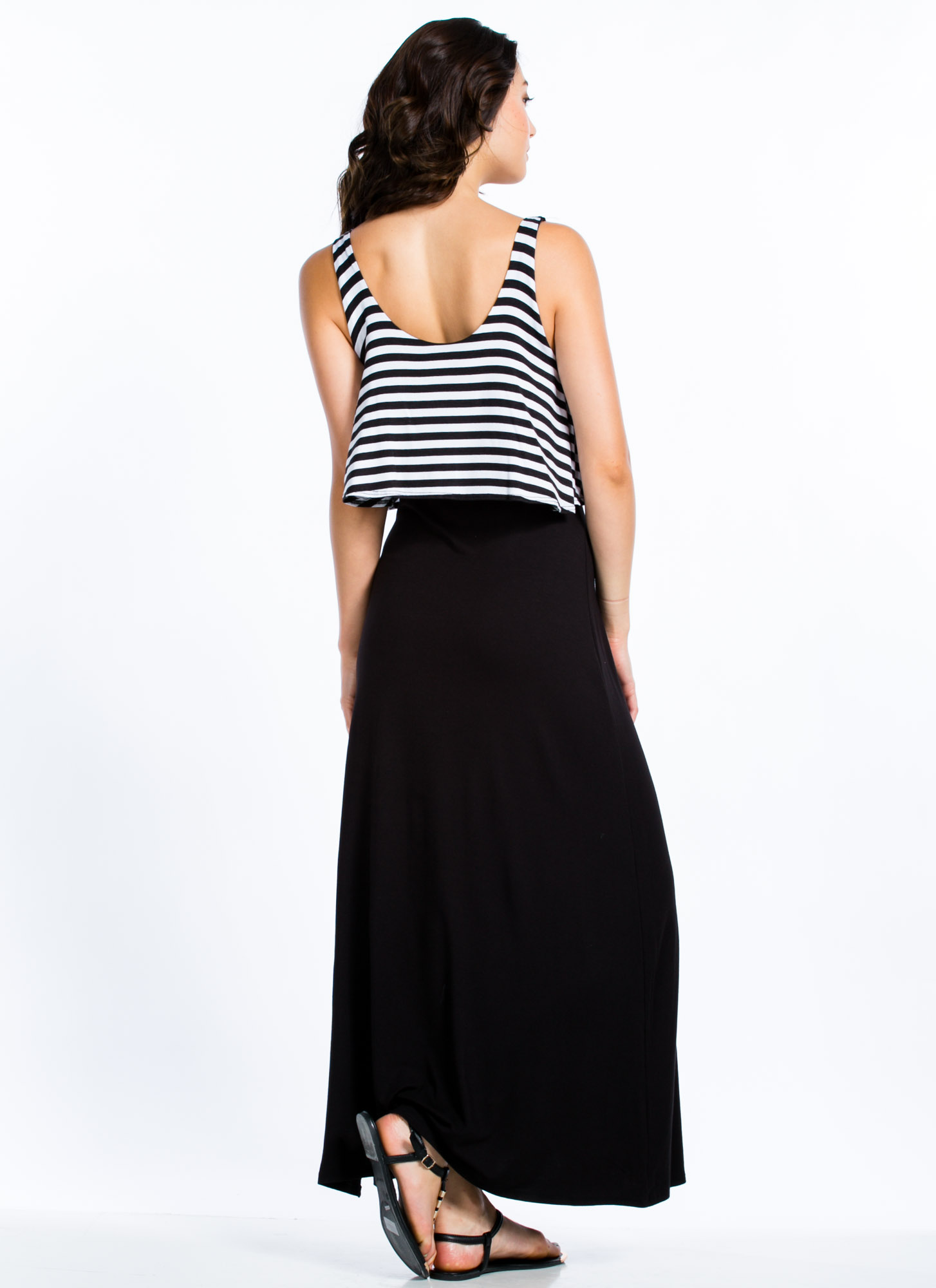 Play It By Tier Maxi Dress BLACK