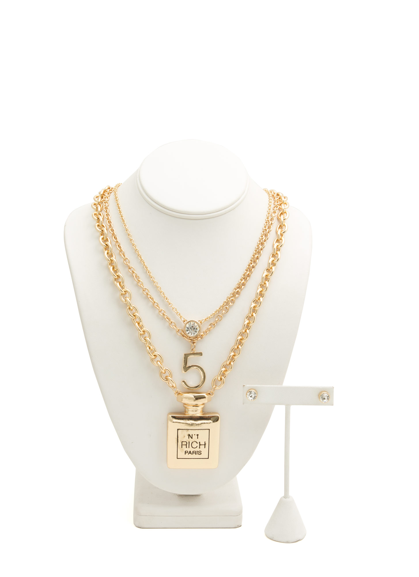 Perfumery Triple Necklace Set GOLD