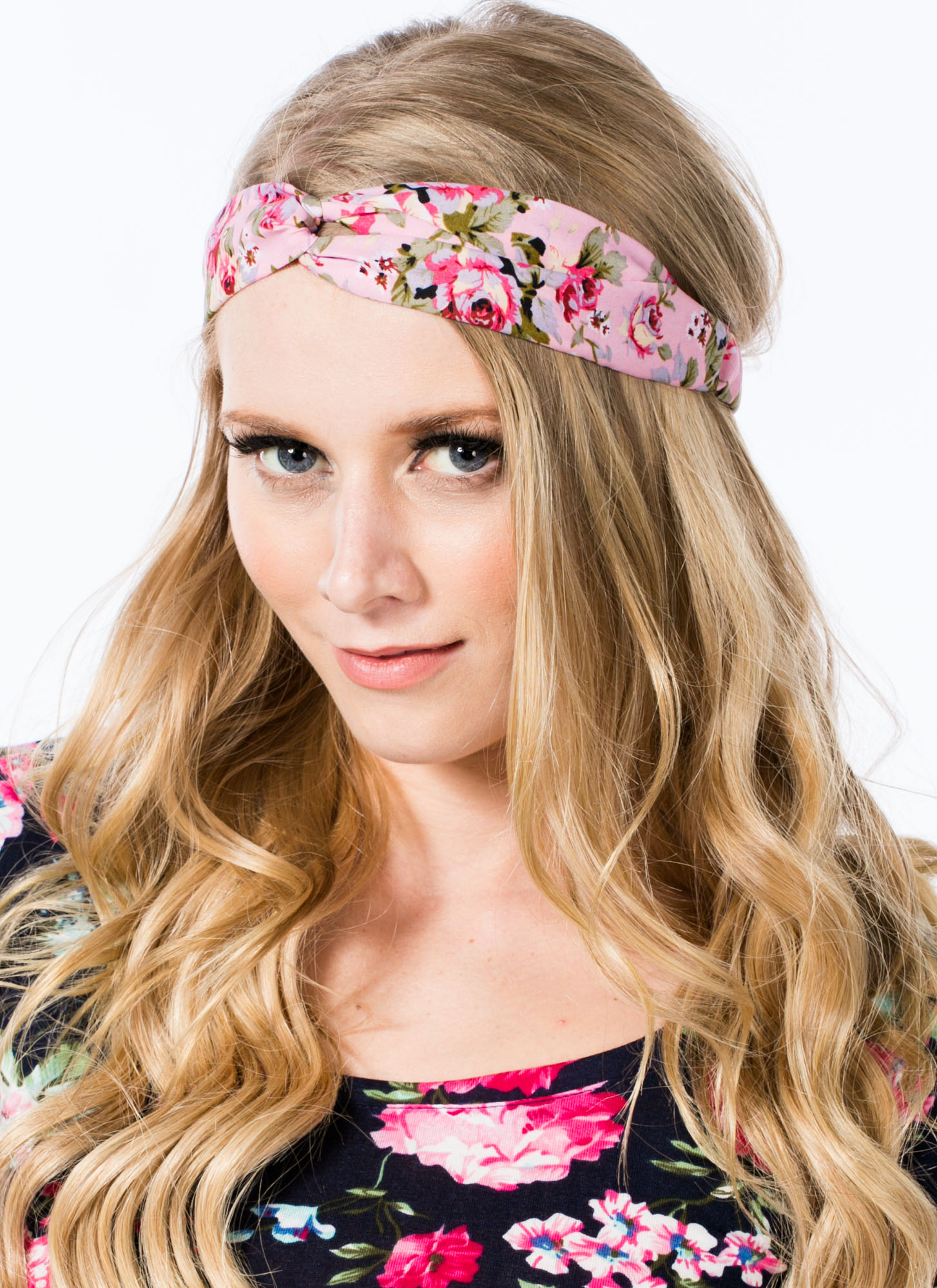 Floral Twisted Headband PINK
