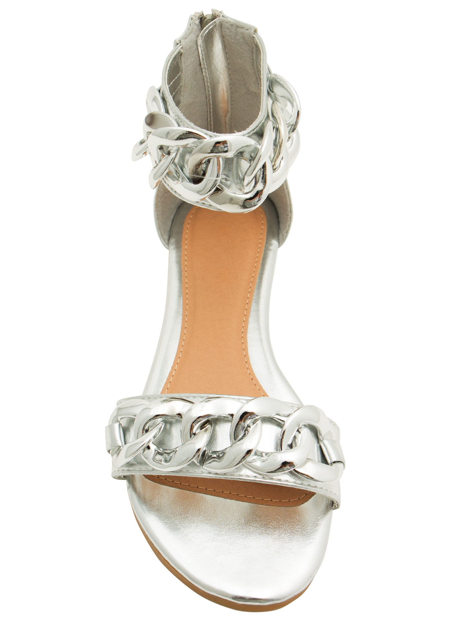 No Weak Links Here Chained Sandals SILVER