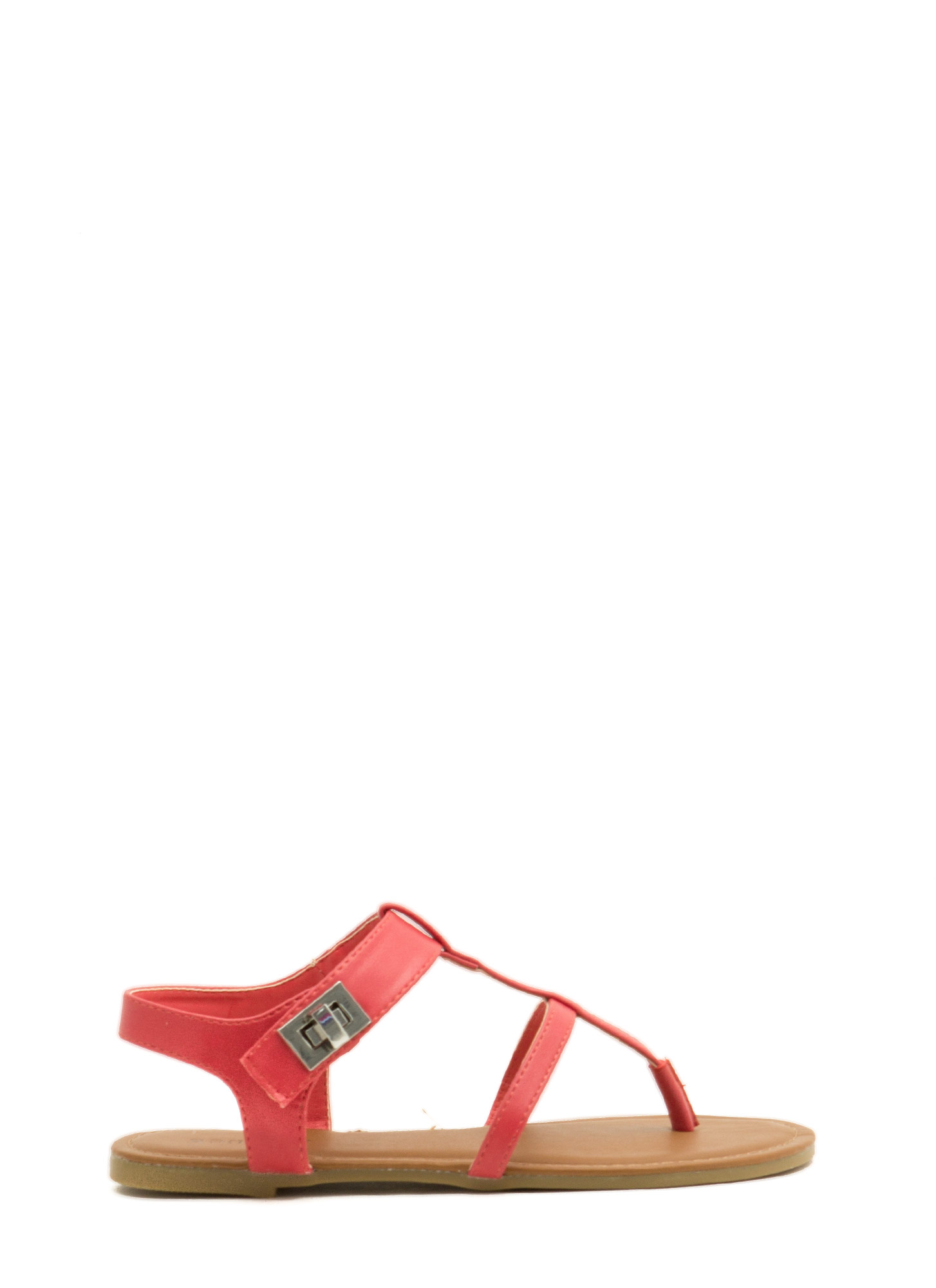 Locked Away Ankle Strap Sandals CORAL
