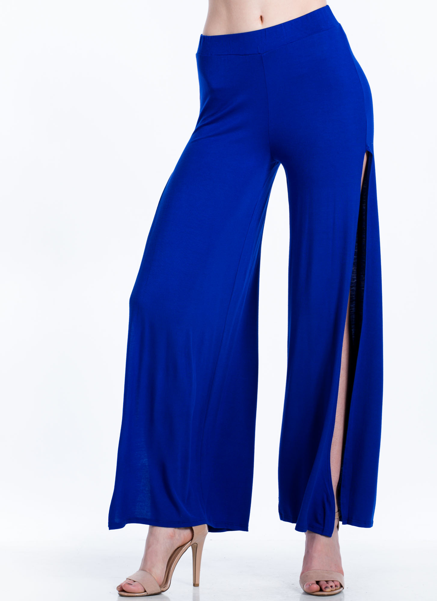 Double Slit Palazzo Pants ROYAL