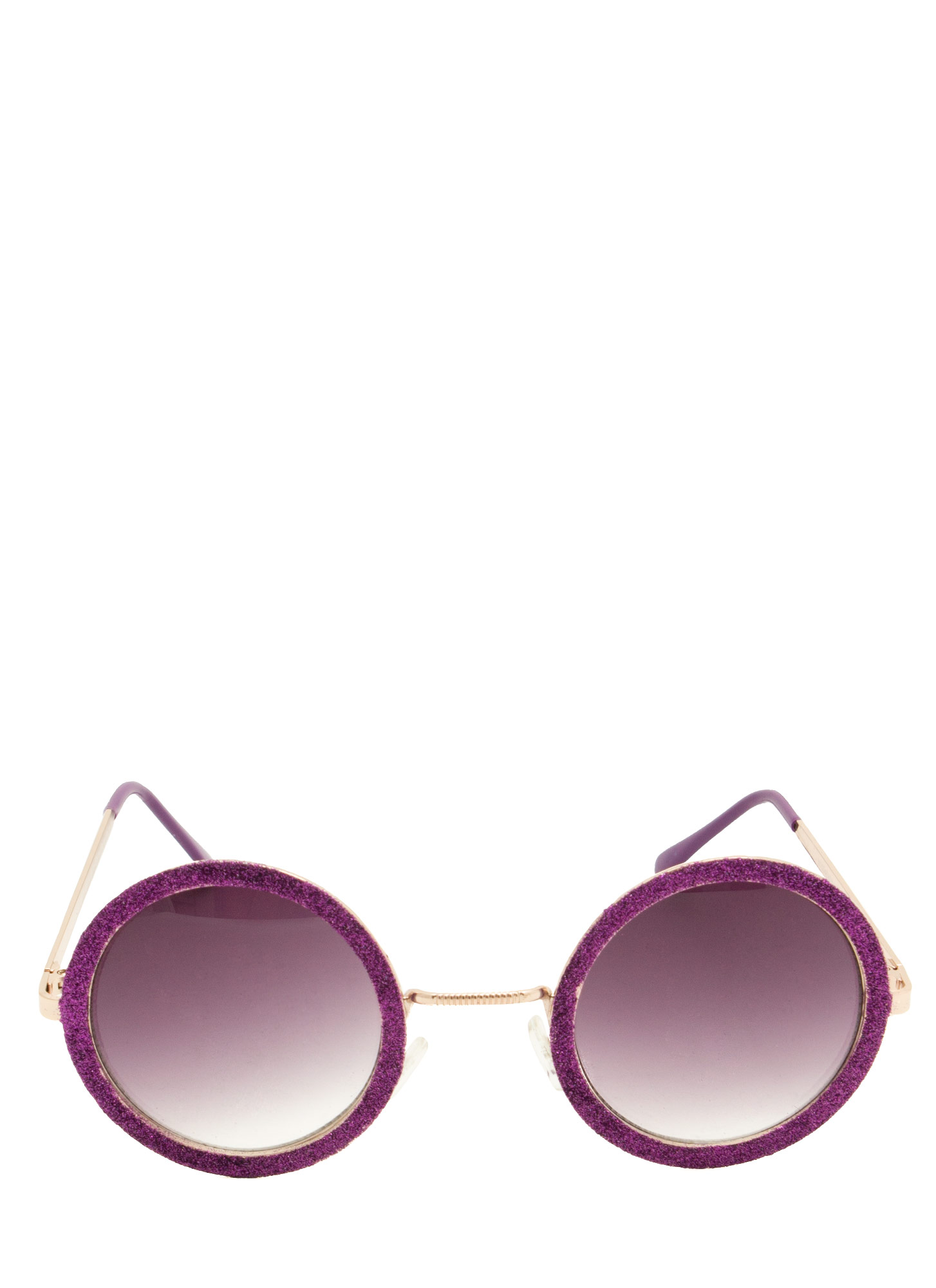 Glitzy Round Sunglasses PURPLE