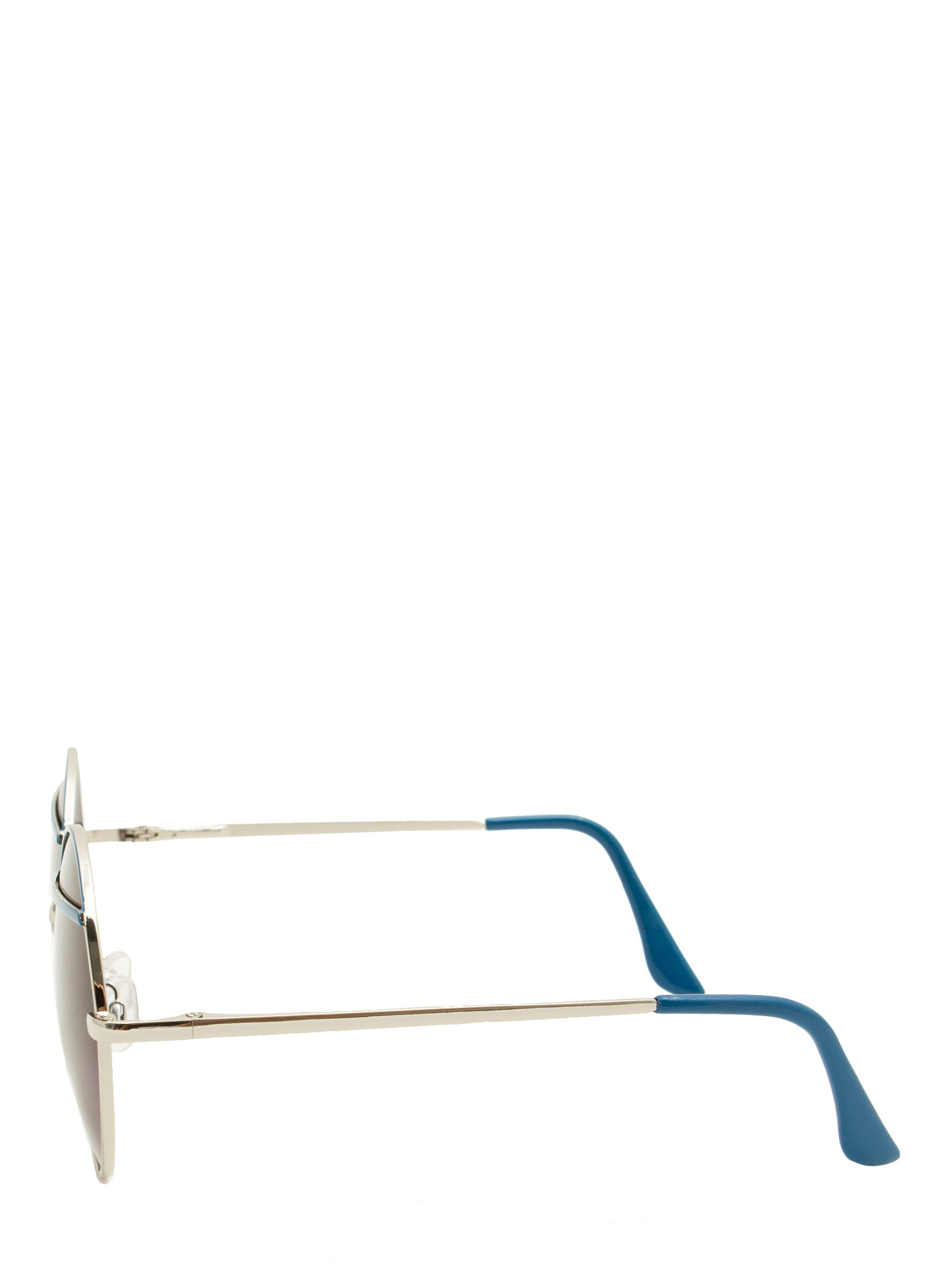 Bar Topped Round Sunglasses BLUE