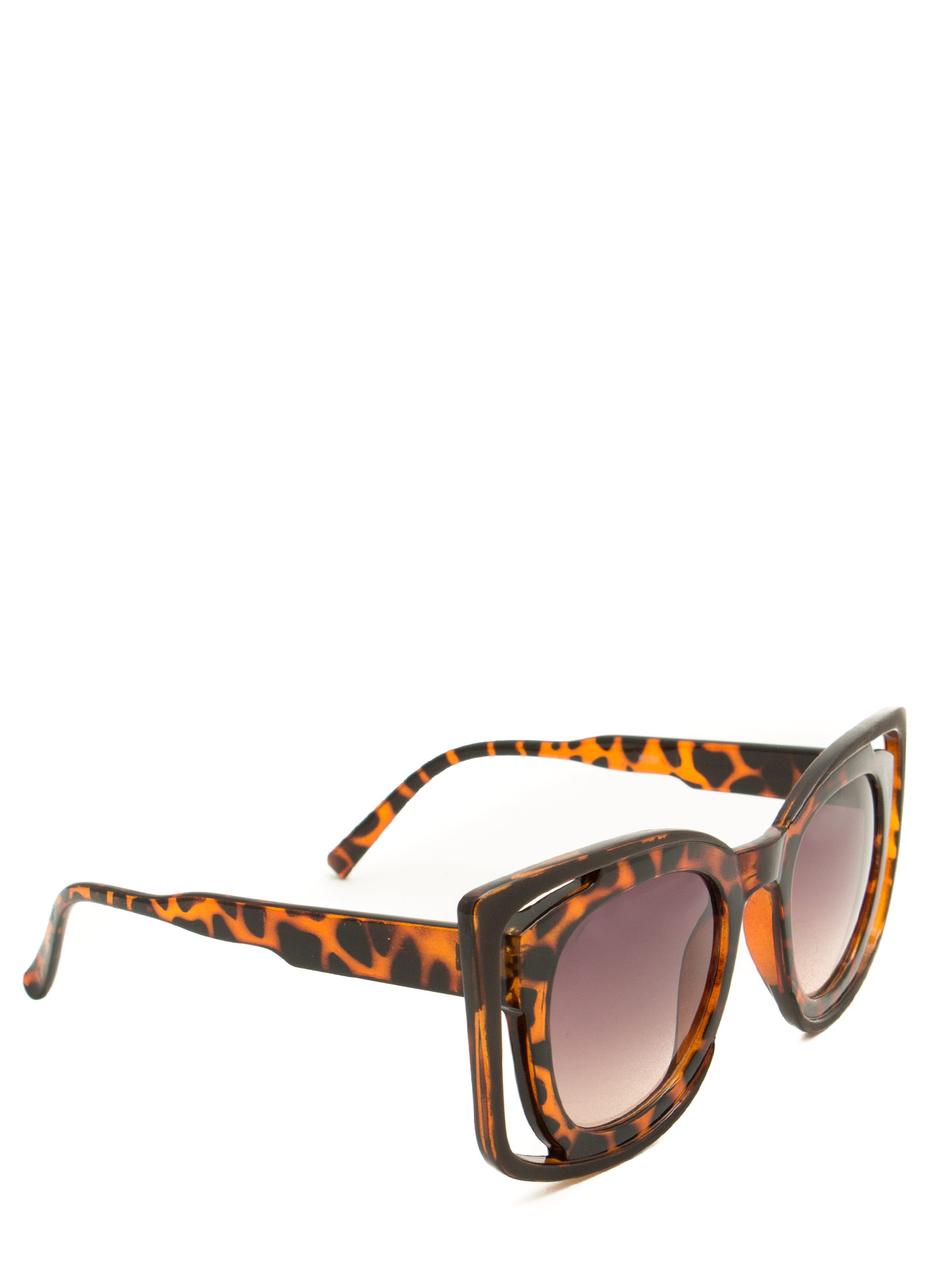 Double Frame Squared Sunglasses TORTOISE