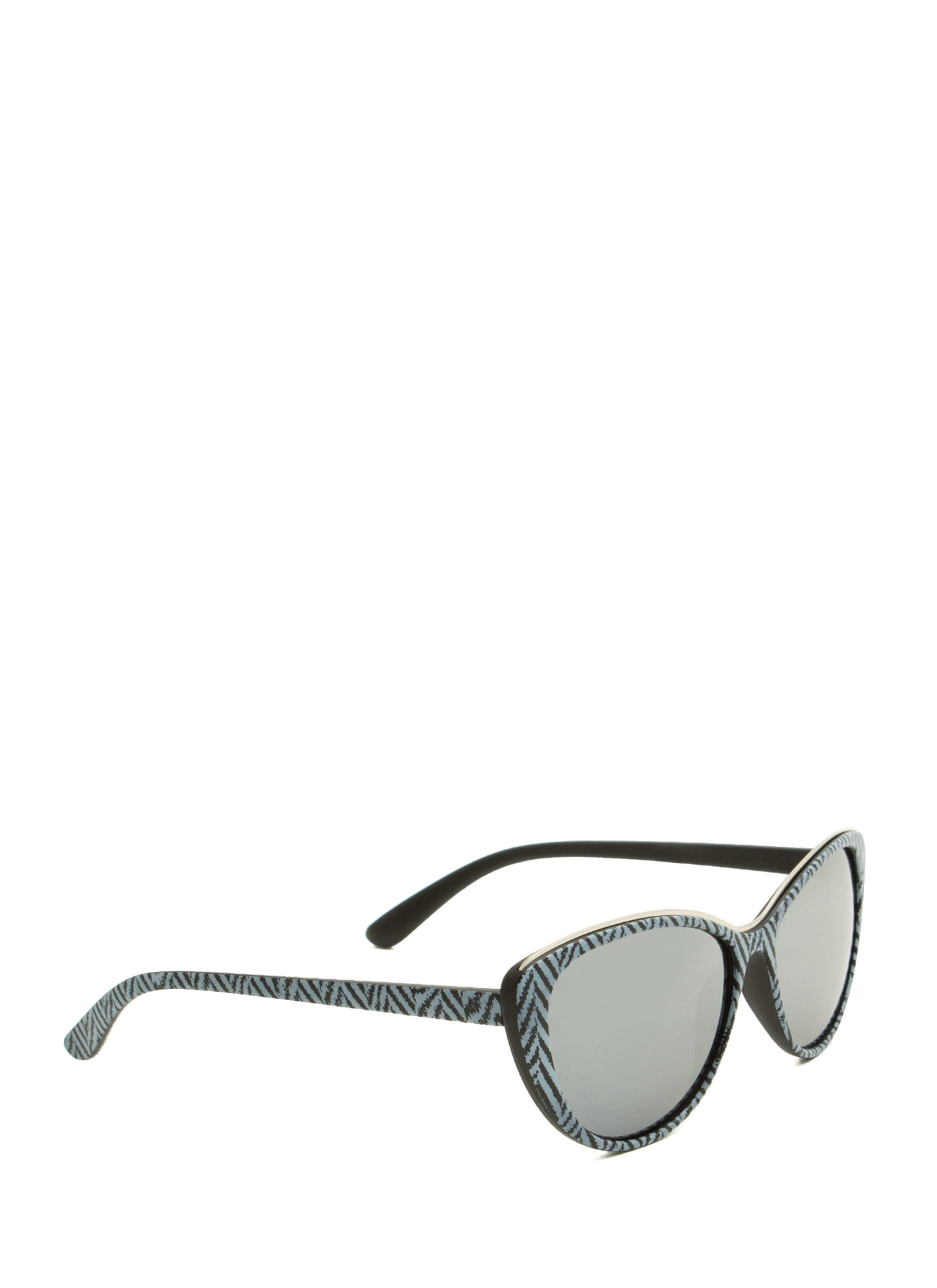 Pattern Play Reflective Sunglasses BLACK