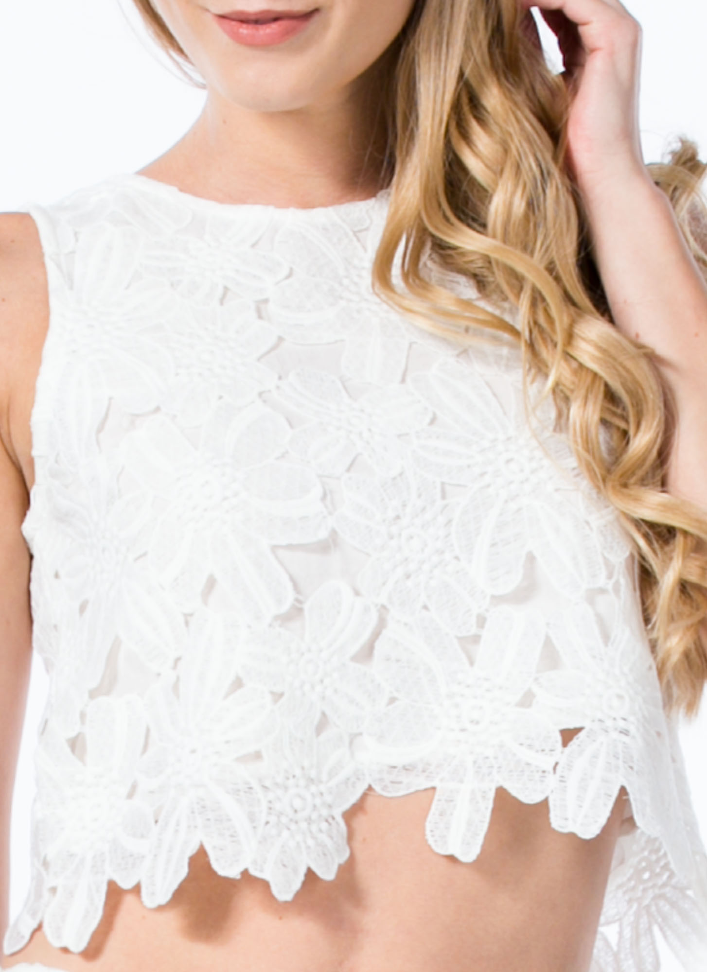 Crochet Wonder Top WHITE