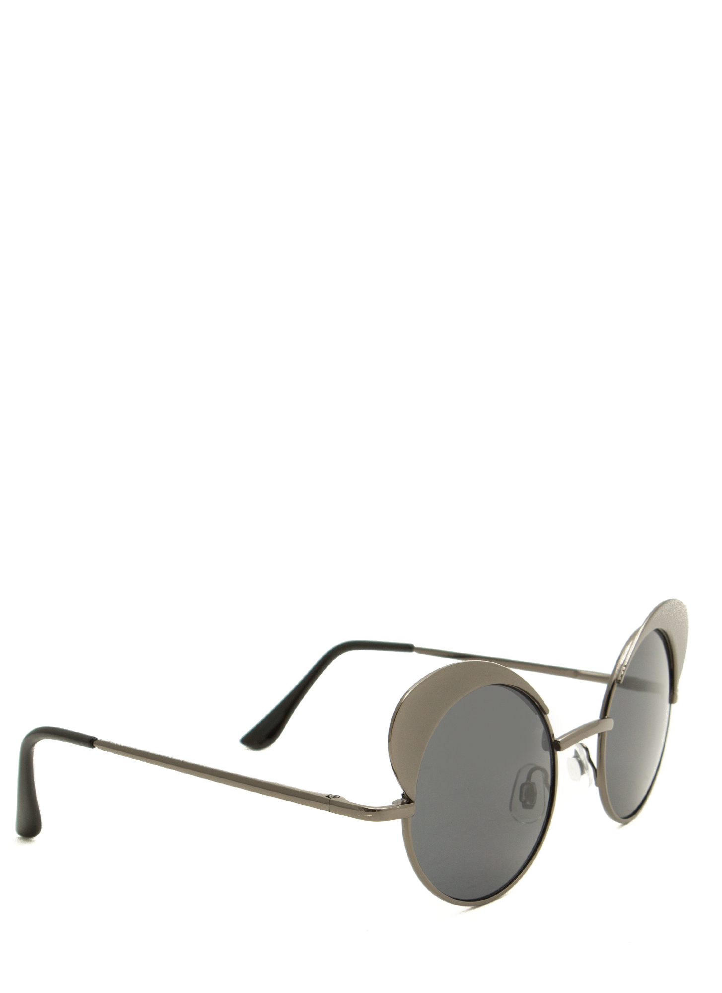 All Curves Rounded Cat Eye Sunglasses PEWTER