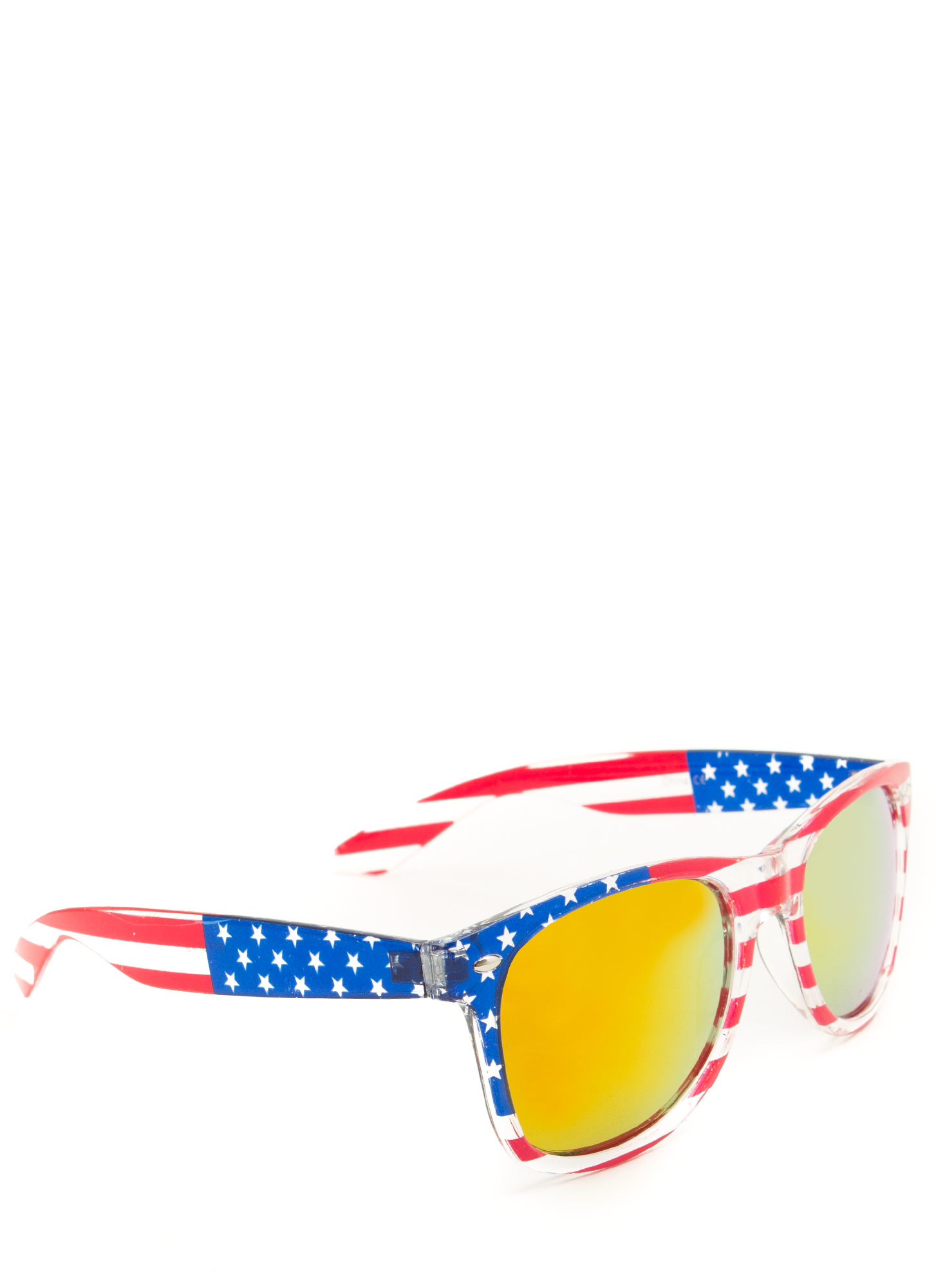 Stars N Stripes Sunglasses ORANGE (Final Sale)