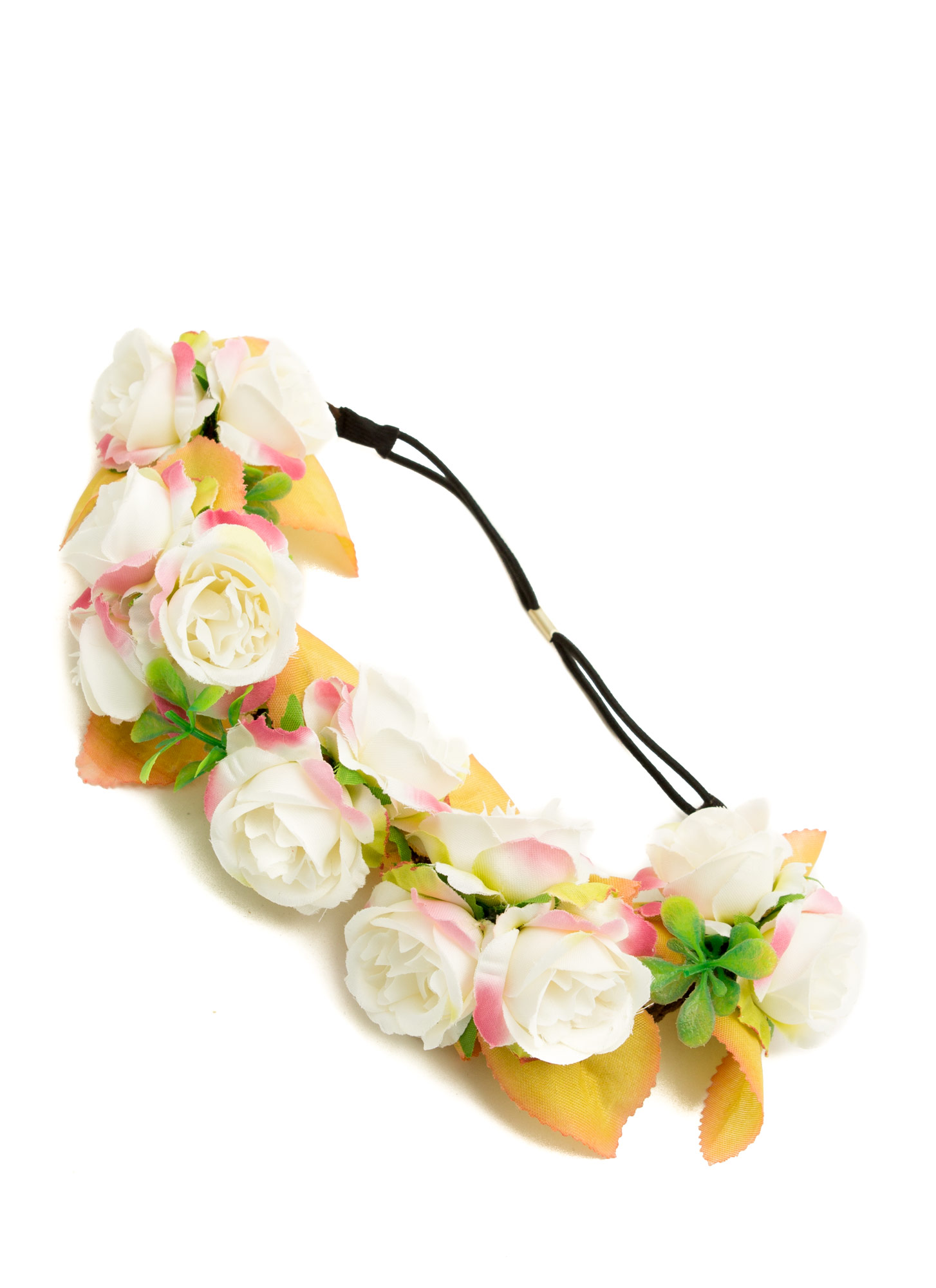 Bundles Of Roses Braided Headband  IVORYMULTI