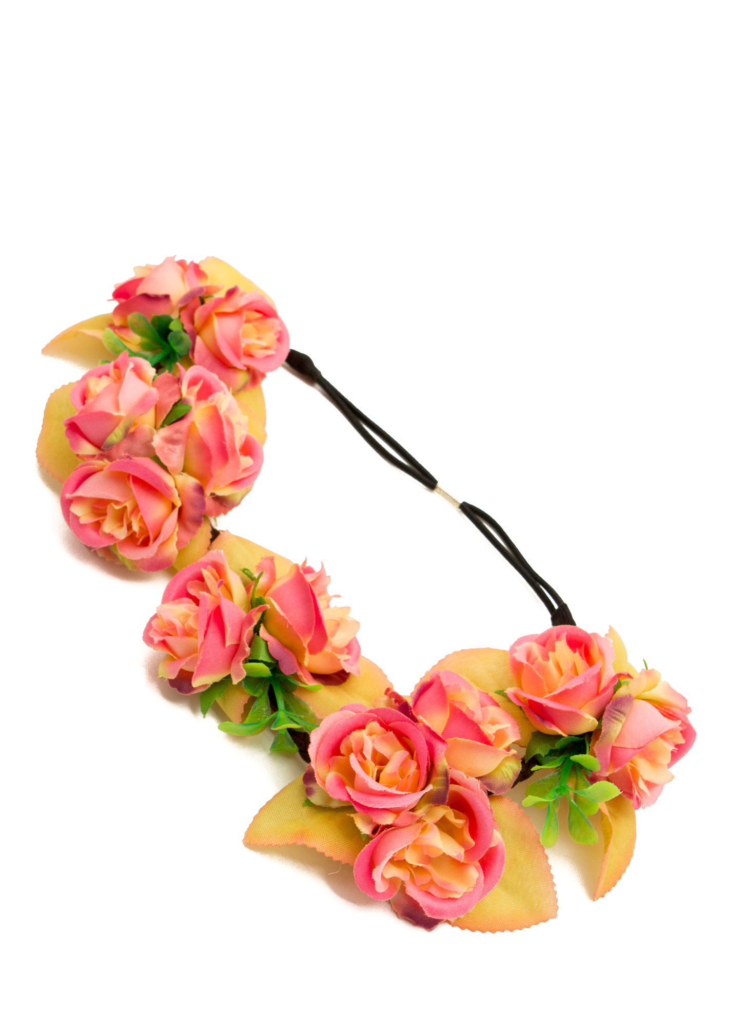 Bundles Of Roses Braided Headband  PEACHMULTI