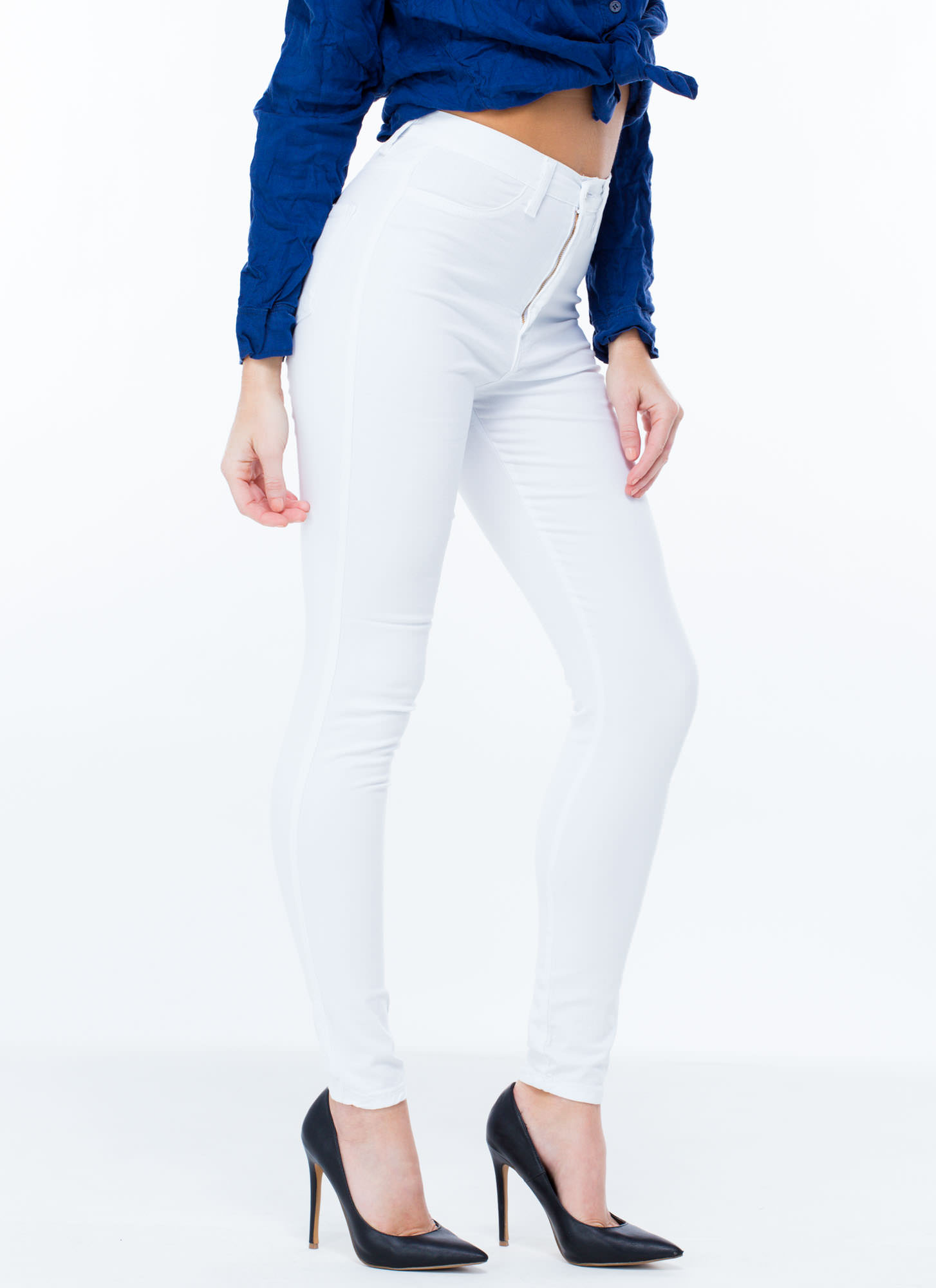 Perfect Basic Skinny Jeans WHITE