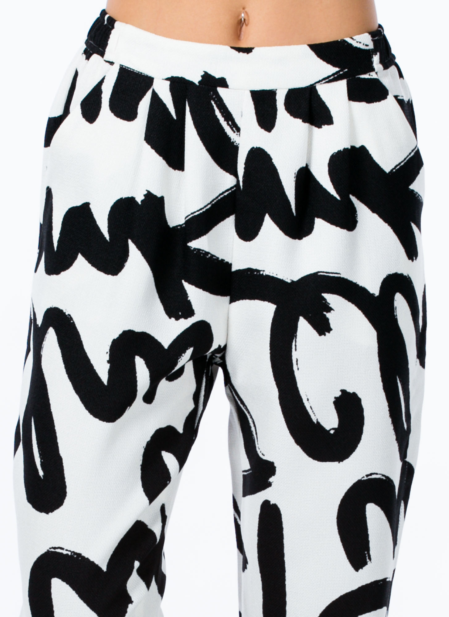 Painted Graffiti Trousers BLACK