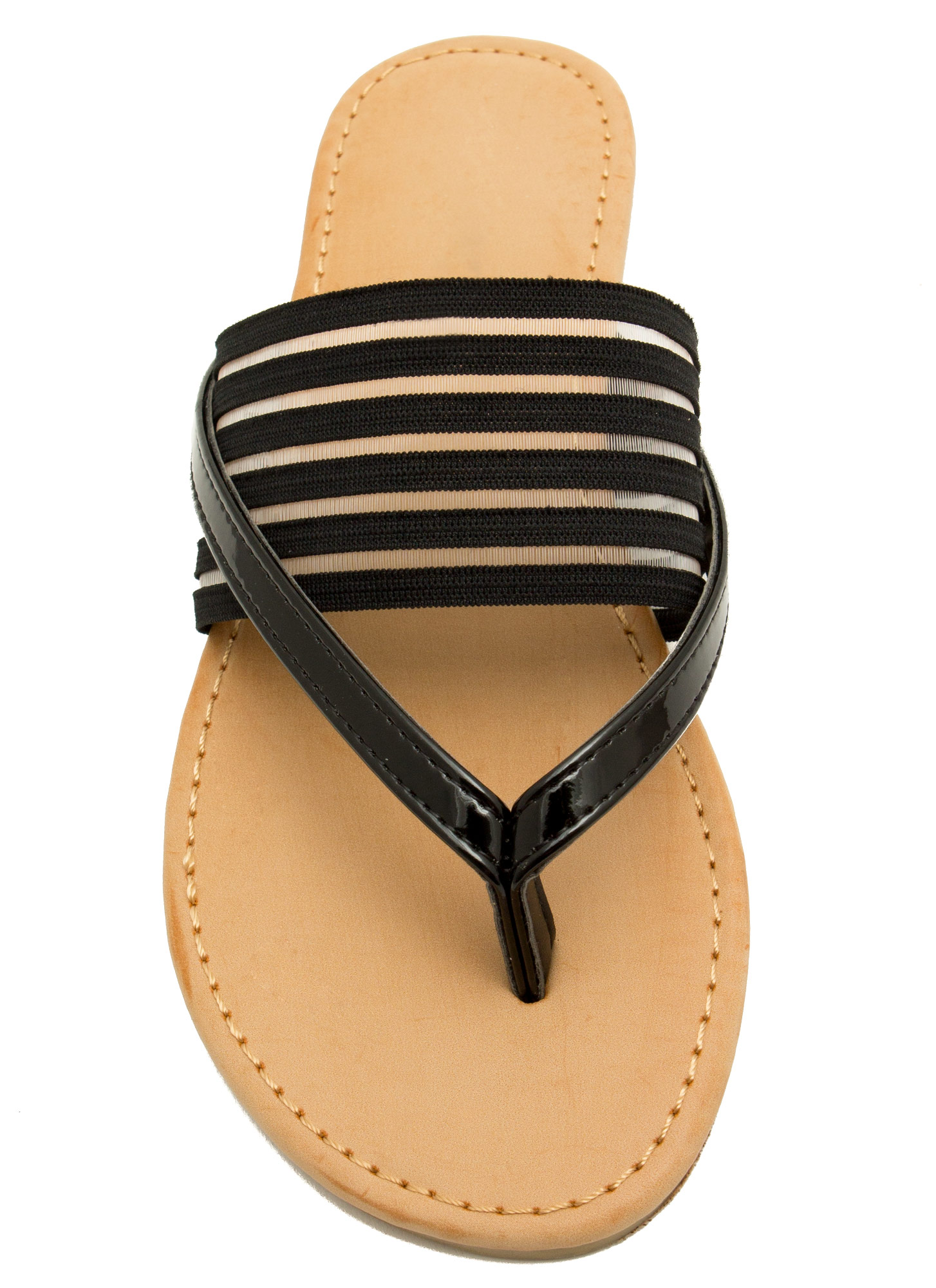 Show Ur Stripes Thong Sandals BLACK