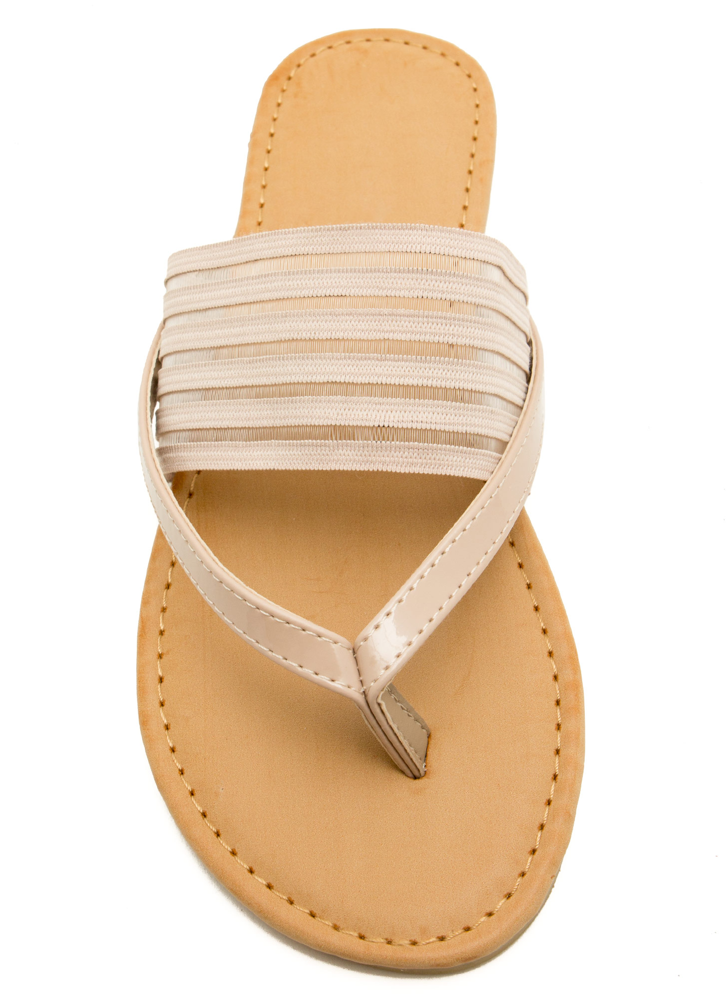 Show Ur Stripes Thong Sandals NUDE