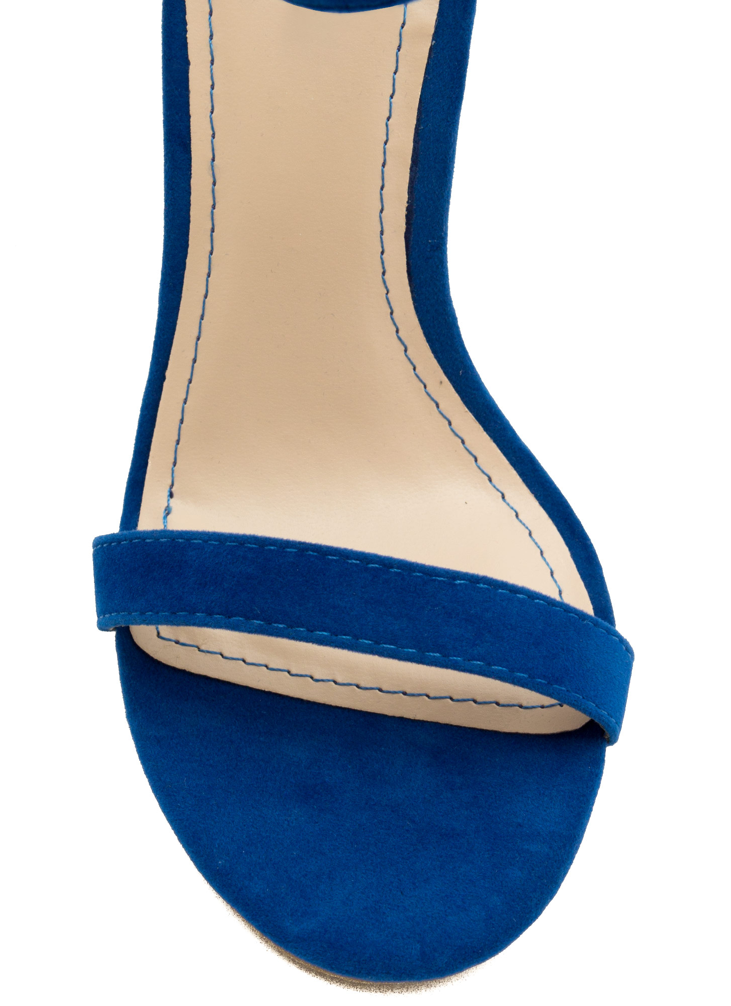 Strap-A-Thon Faux Leather Heels BLUE