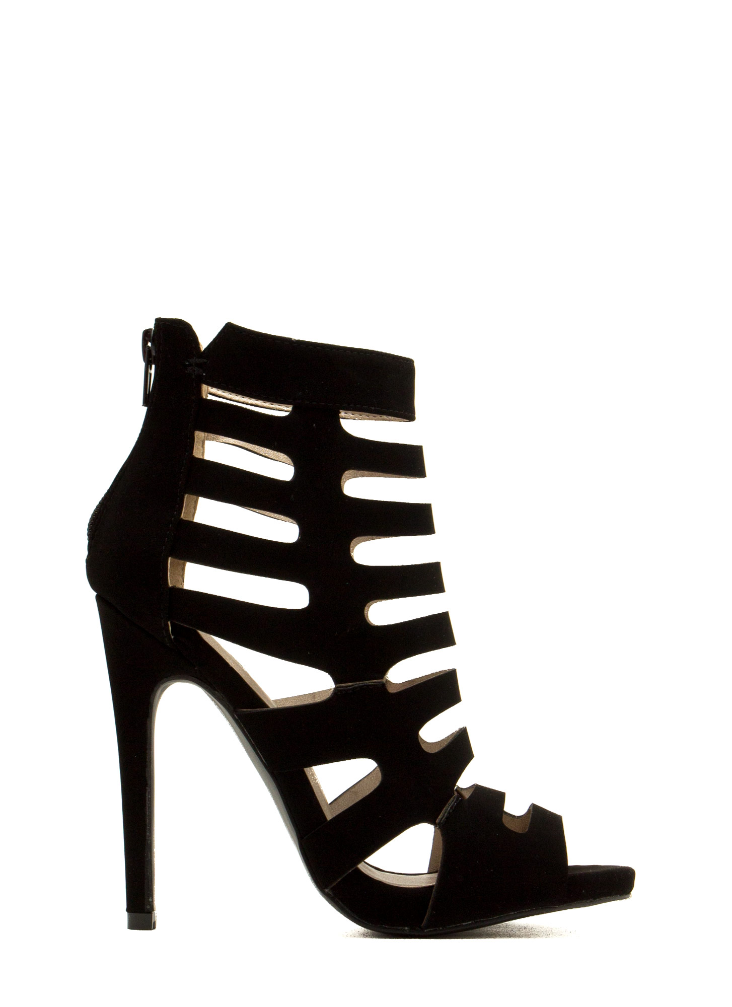 Ladder To The Top Heels BLACK