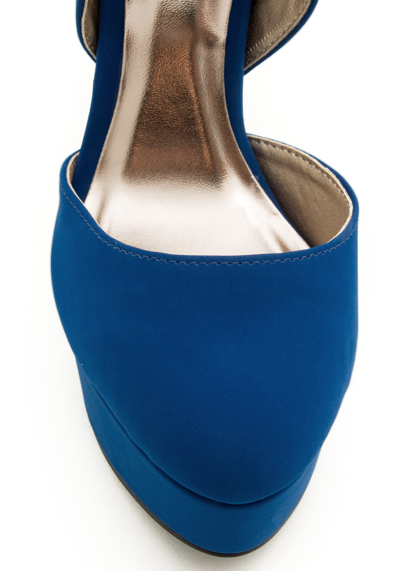 Locked And Loaded Ankle Strap Heels COBALT